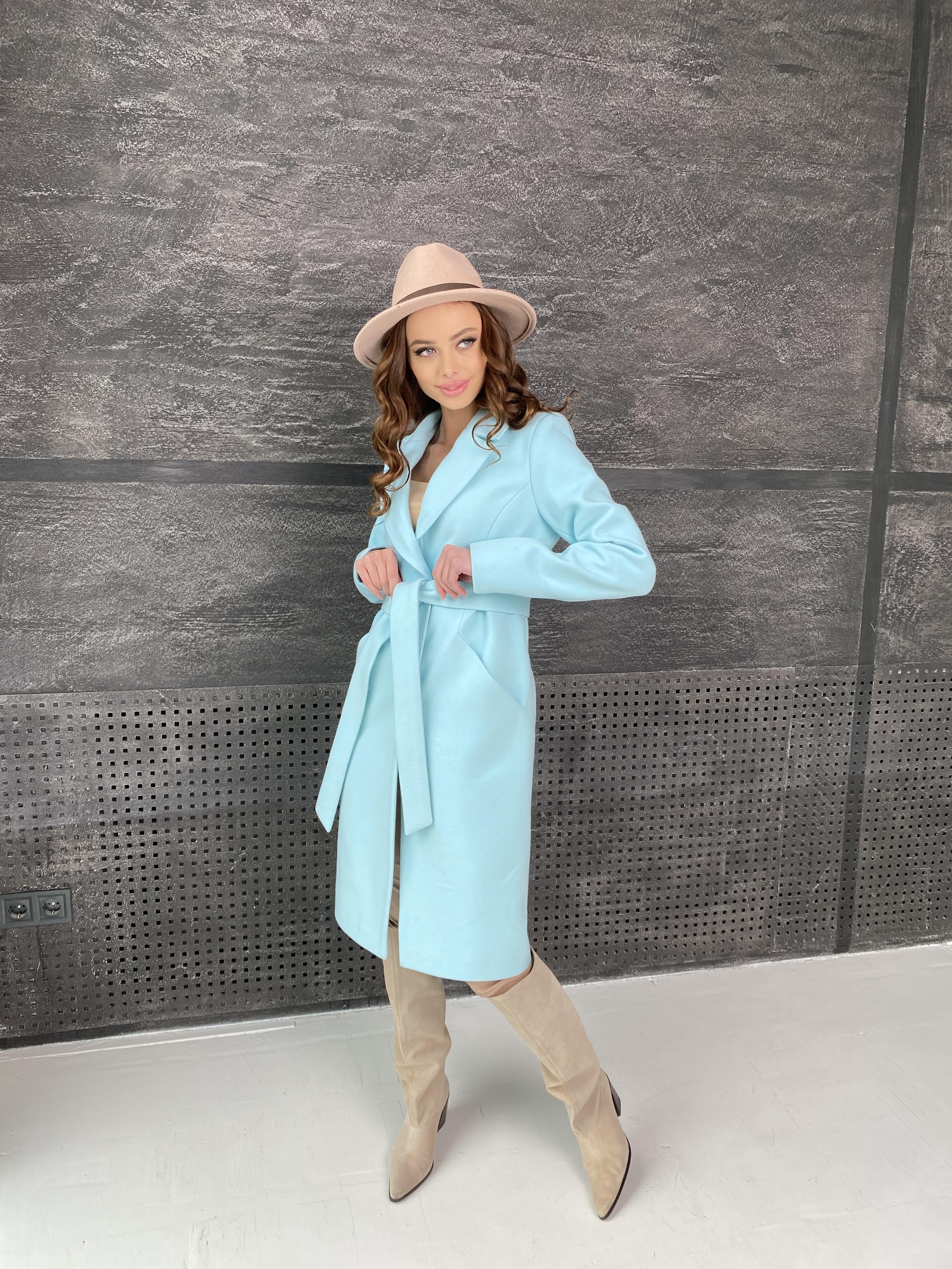 Мехико пальто из кашемира 9026 АРТ. 45350 Цвет: Мята 6 - фото 1, интернет магазин tm-modus.ru