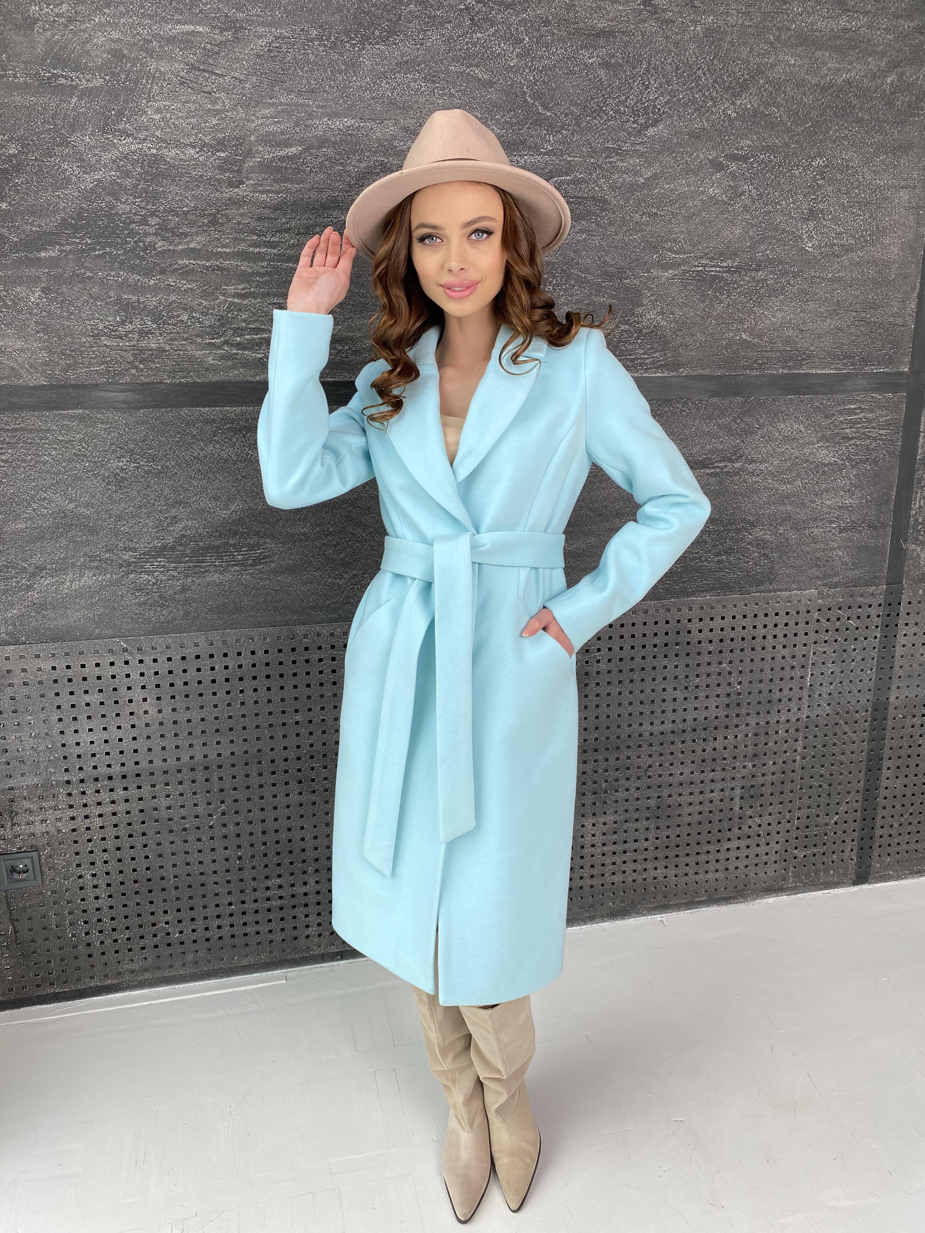 Мехико пальто из кашемира 9026 АРТ. 45350 Цвет: Мята 6 - фото 3, интернет магазин tm-modus.ru
