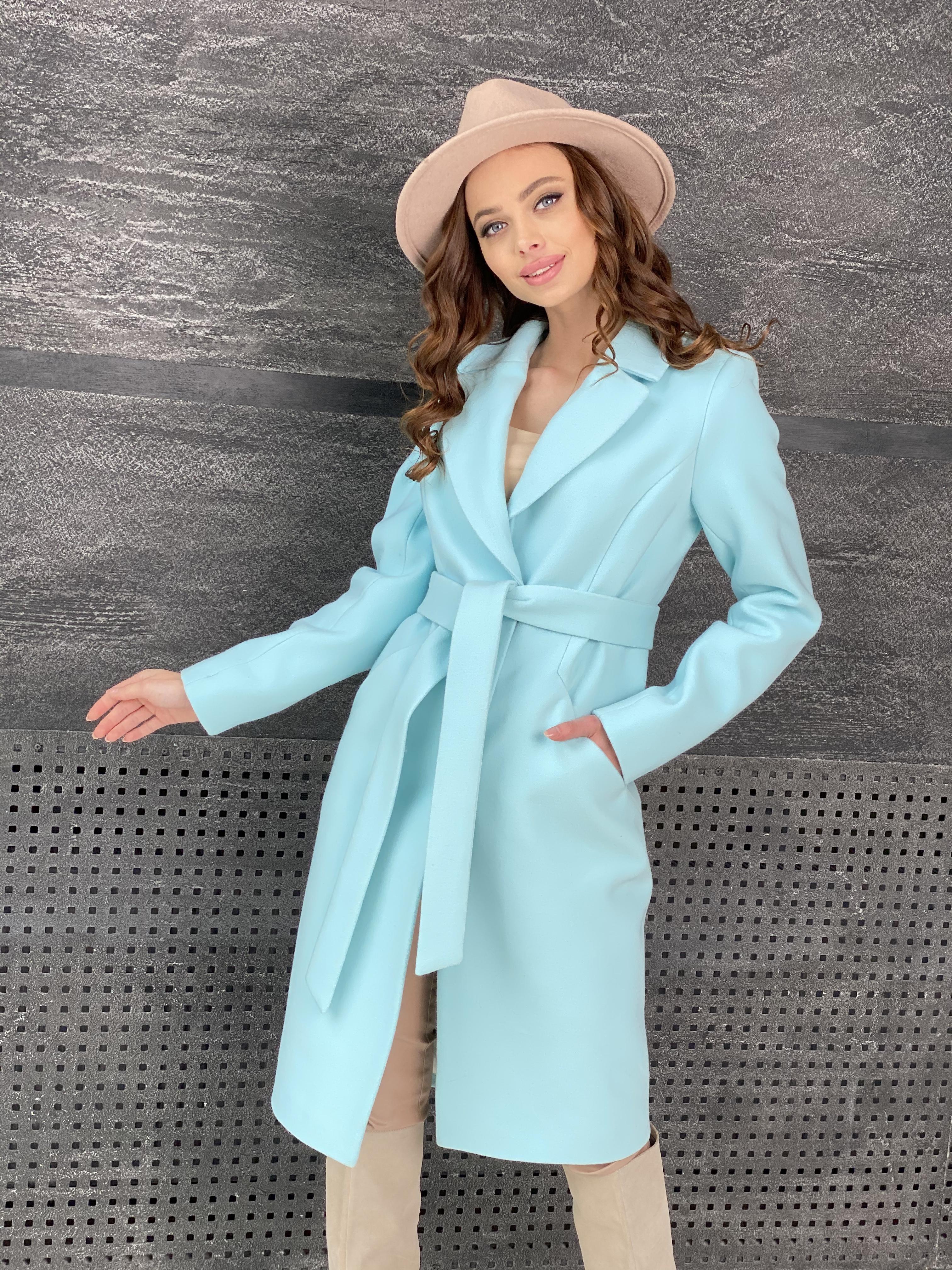 Мехико пальто из кашемира 9026 АРТ. 45350 Цвет: Мята 6 - фото 4, интернет магазин tm-modus.ru
