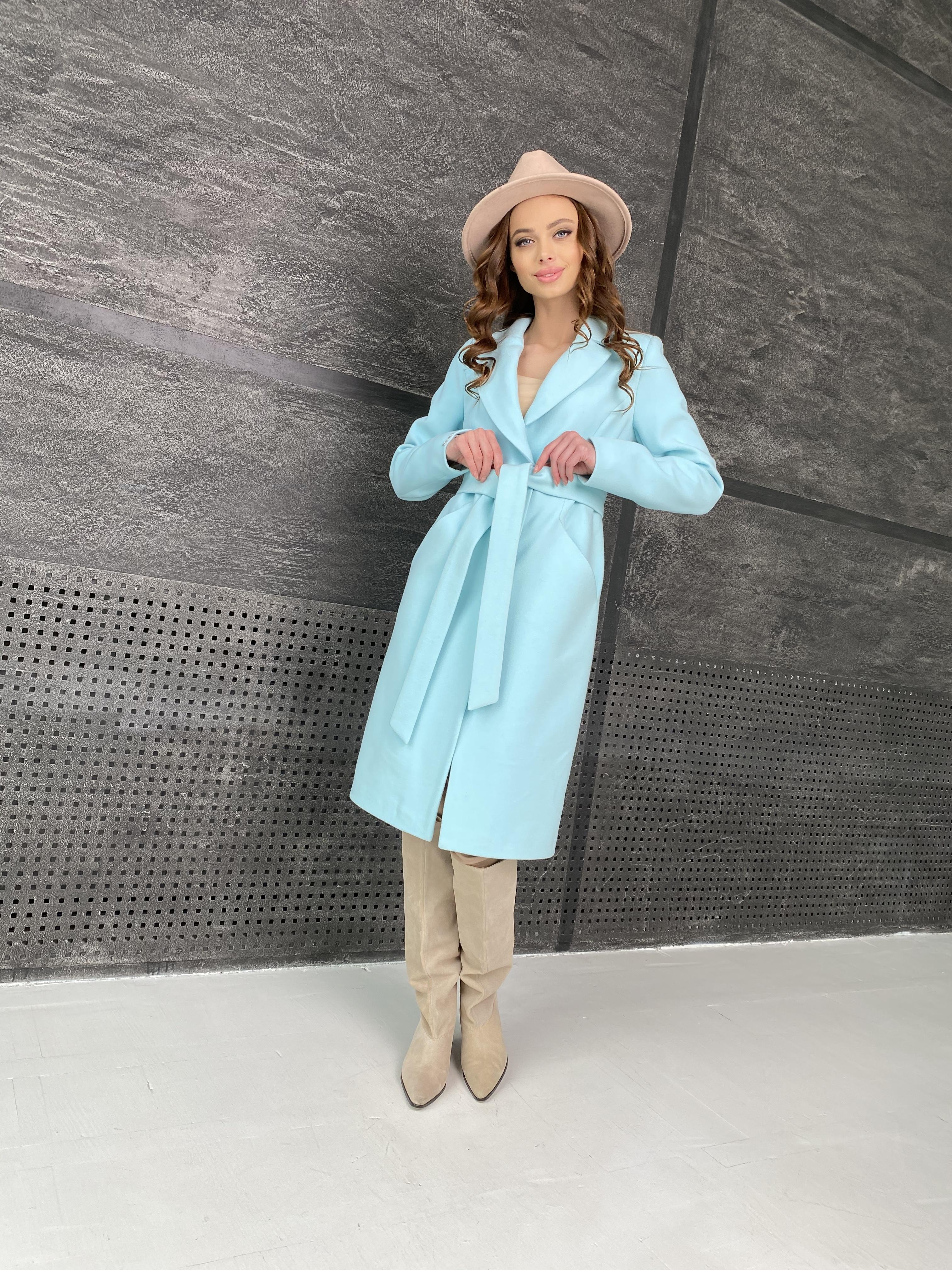 Мехико пальто из кашемира 9026 АРТ. 45350 Цвет: Мята 6 - фото 7, интернет магазин tm-modus.ru