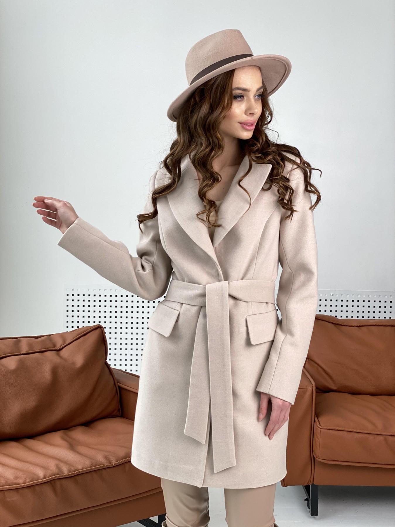 Демисезонное пальто от производителя Modus Корсипальто из гладкого кашемира 10893