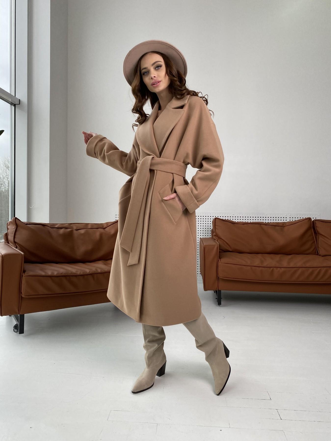 Влада пальто демисезонное из кашемира  10541 АРТ. 46895 Цвет: Кемел - фото 1, интернет магазин tm-modus.ru