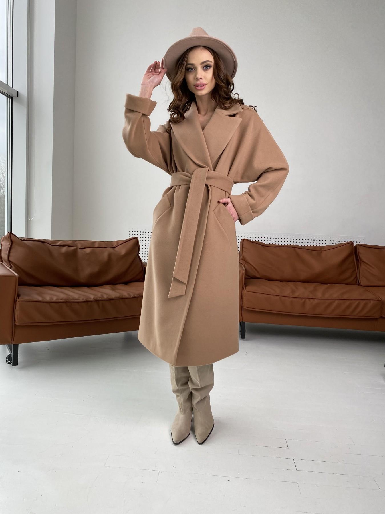 Влада пальто демисезонное из кашемира  10541 АРТ. 46895 Цвет: Кемел - фото 2, интернет магазин tm-modus.ru
