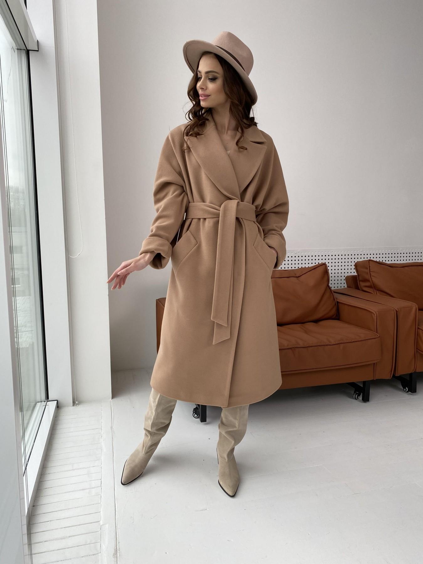 Влада пальто демисезонное из кашемира  10541 АРТ. 46895 Цвет: Кемел - фото 4, интернет магазин tm-modus.ru