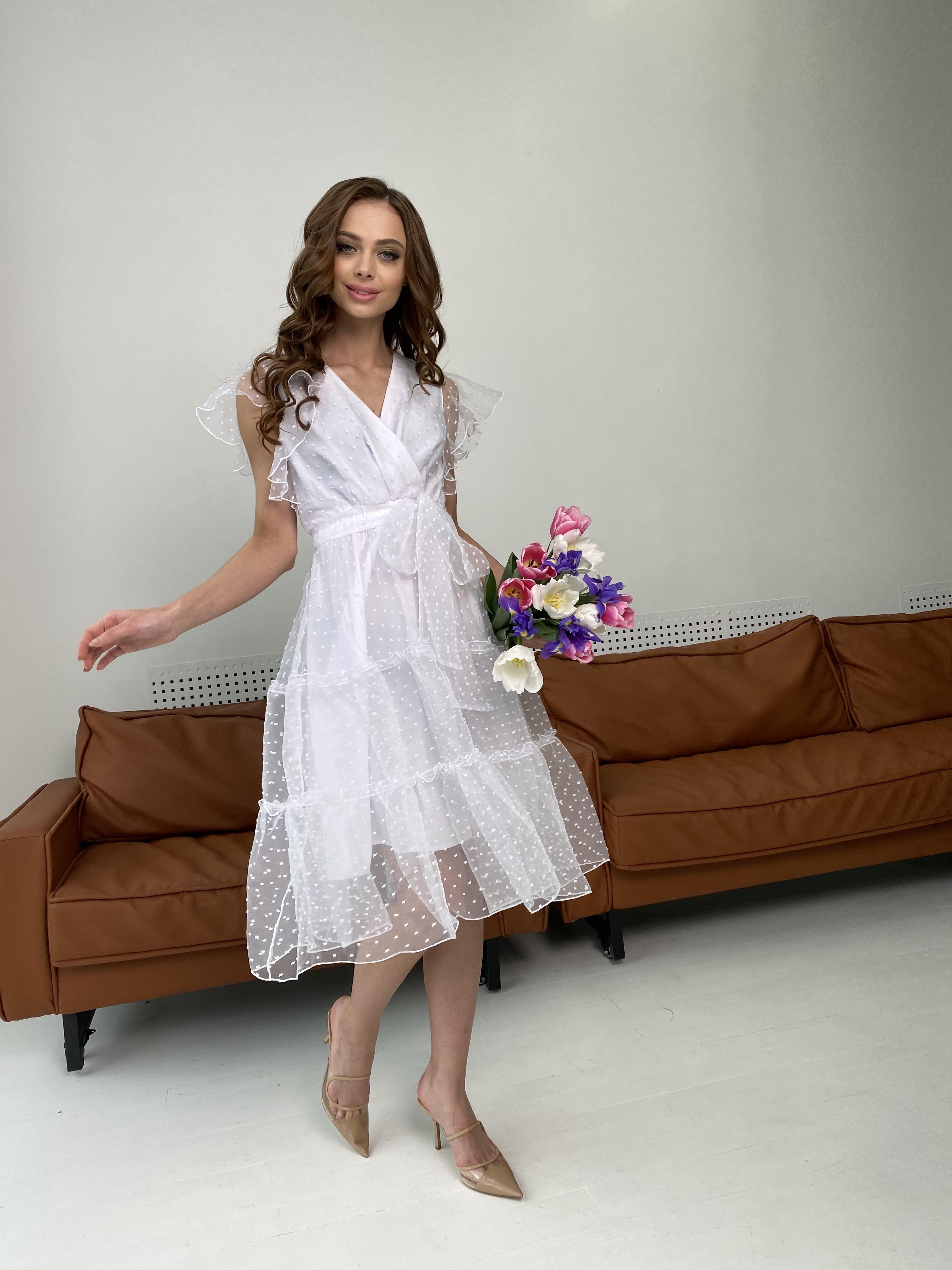 Манана платье из органзы  9101 АРТ. 45422 Цвет: Белый - фото 8, интернет магазин tm-modus.ru