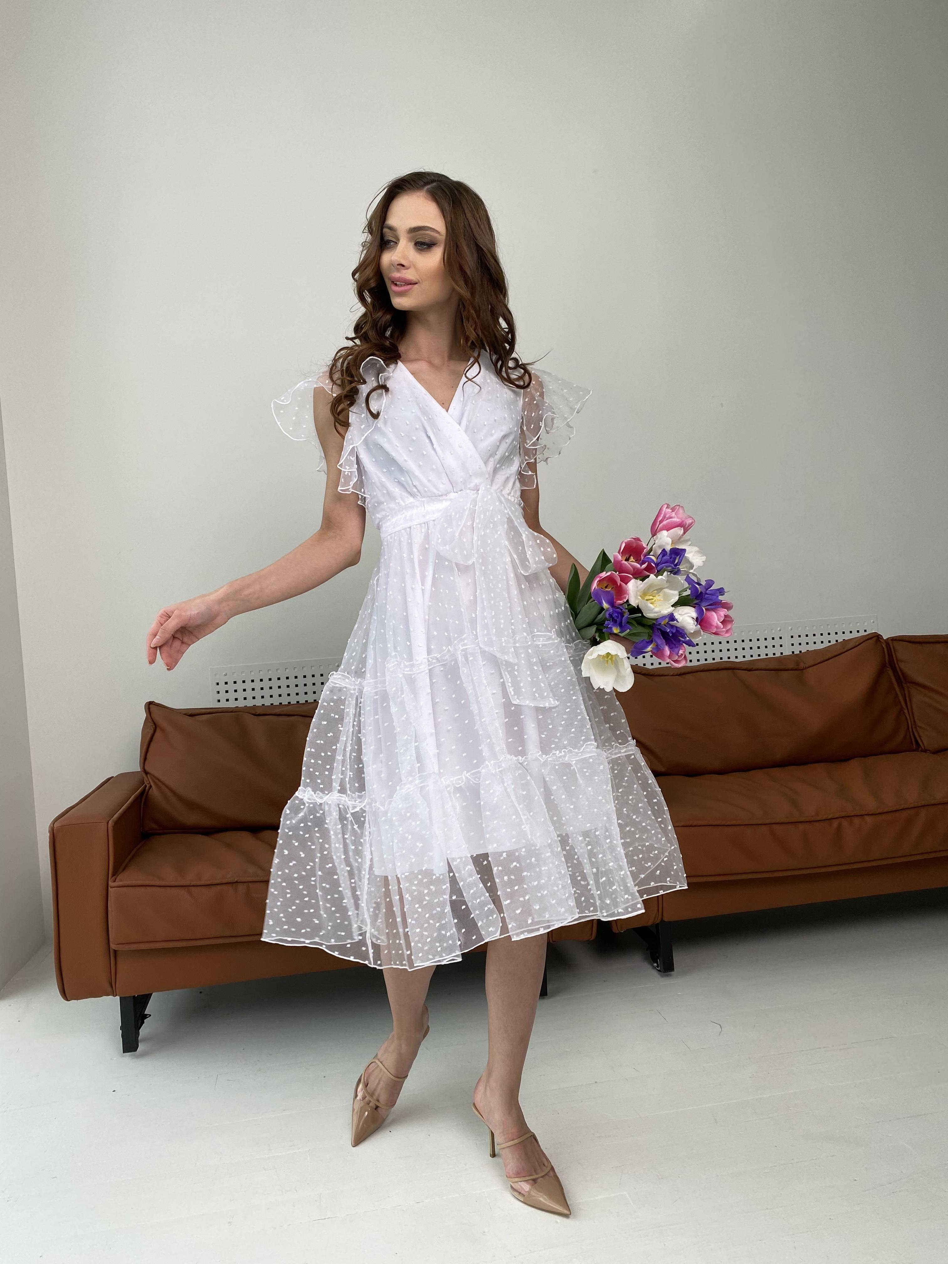 Манана платье из органзы  9101 АРТ. 45422 Цвет: Белый - фото 9, интернет магазин tm-modus.ru