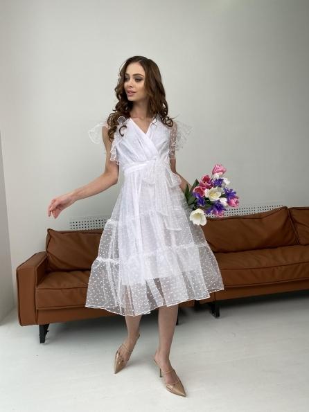 Манана платье из органзы  9101 Цвет: Белый