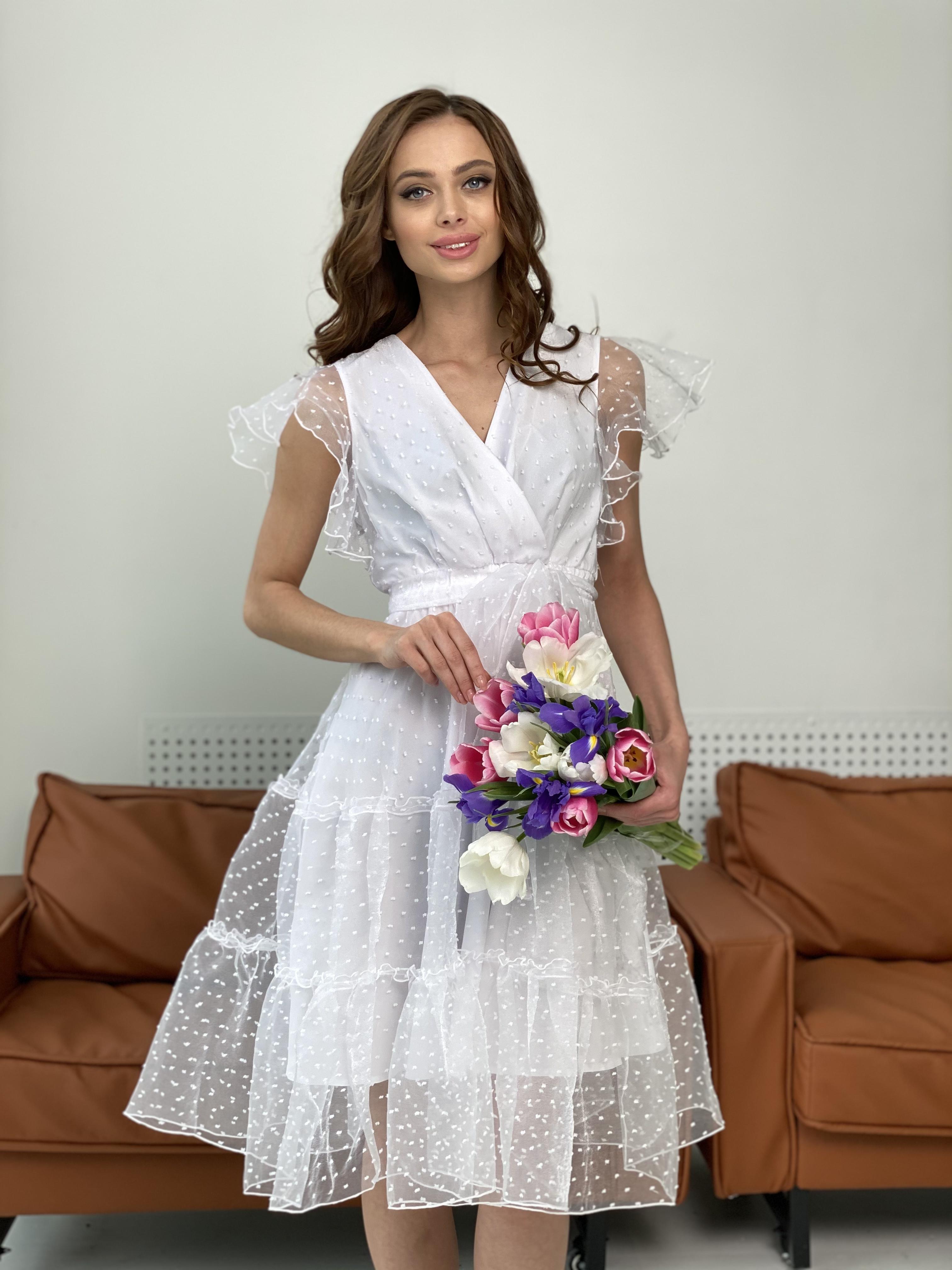 Манана платье из органзы  9101 АРТ. 45422 Цвет: Белый - фото 11, интернет магазин tm-modus.ru