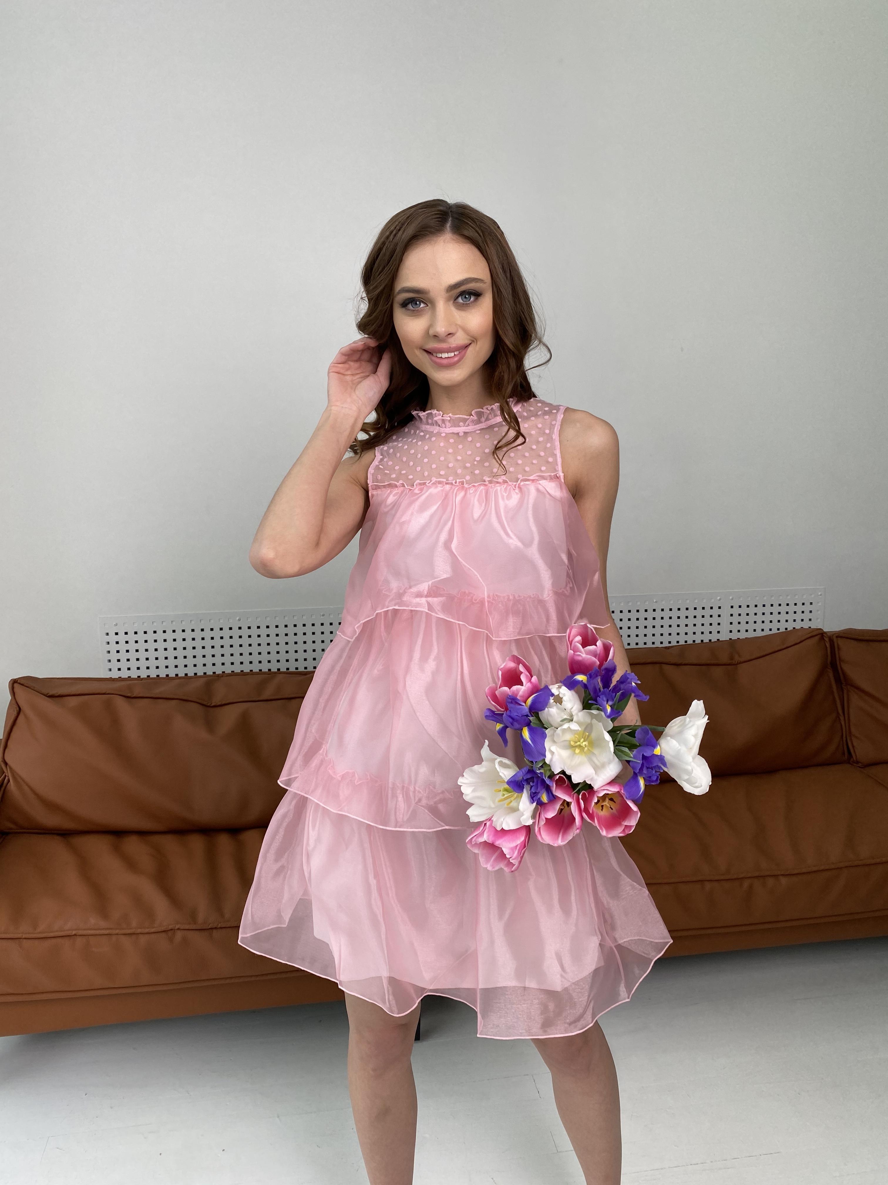 Перри платье из органзы 7067 АРТ. 42362 Цвет: Пудра - фото 2, интернет магазин tm-modus.ru