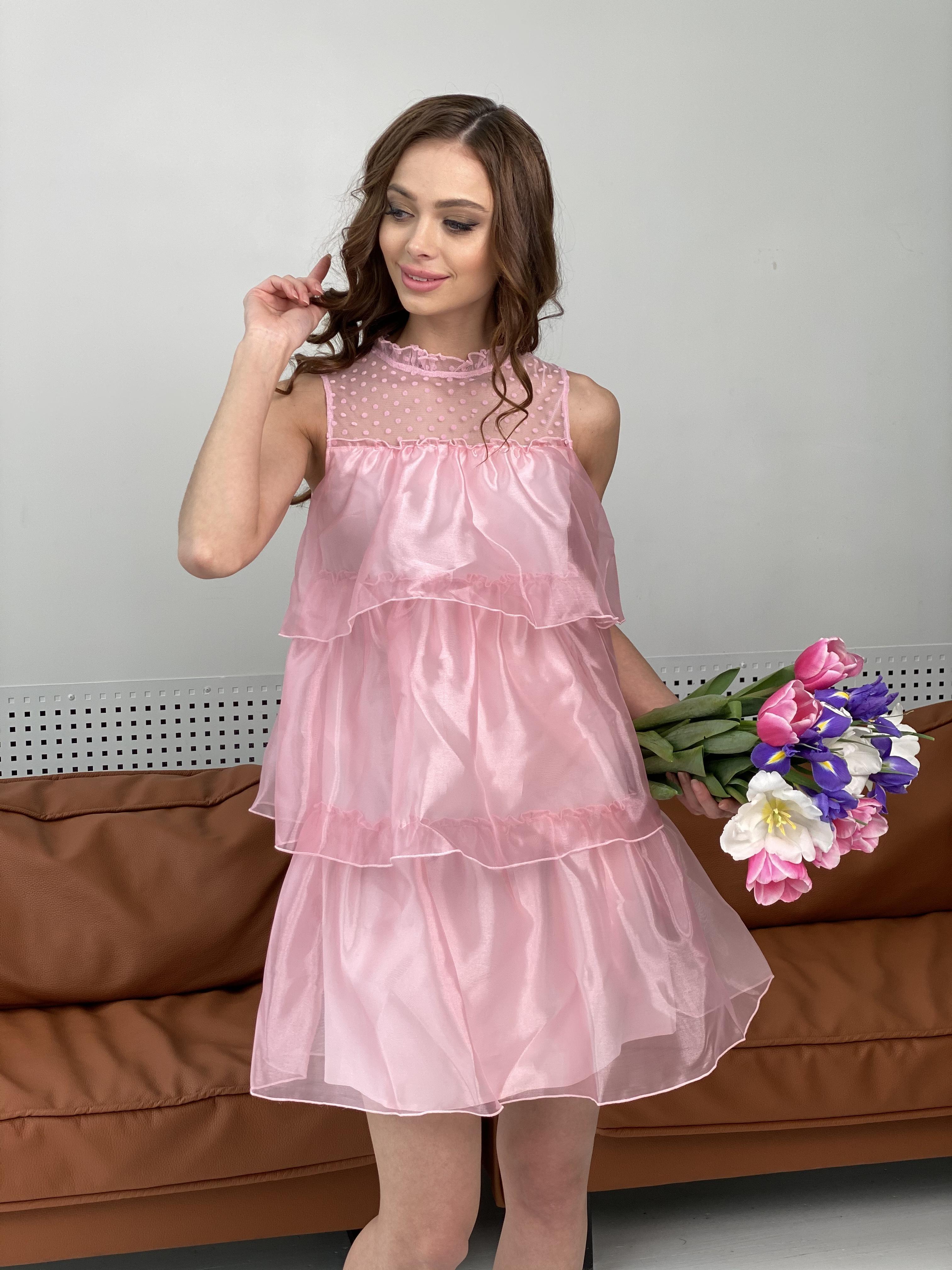 Перри платье из органзы 7067 АРТ. 42362 Цвет: Пудра - фото 3, интернет магазин tm-modus.ru