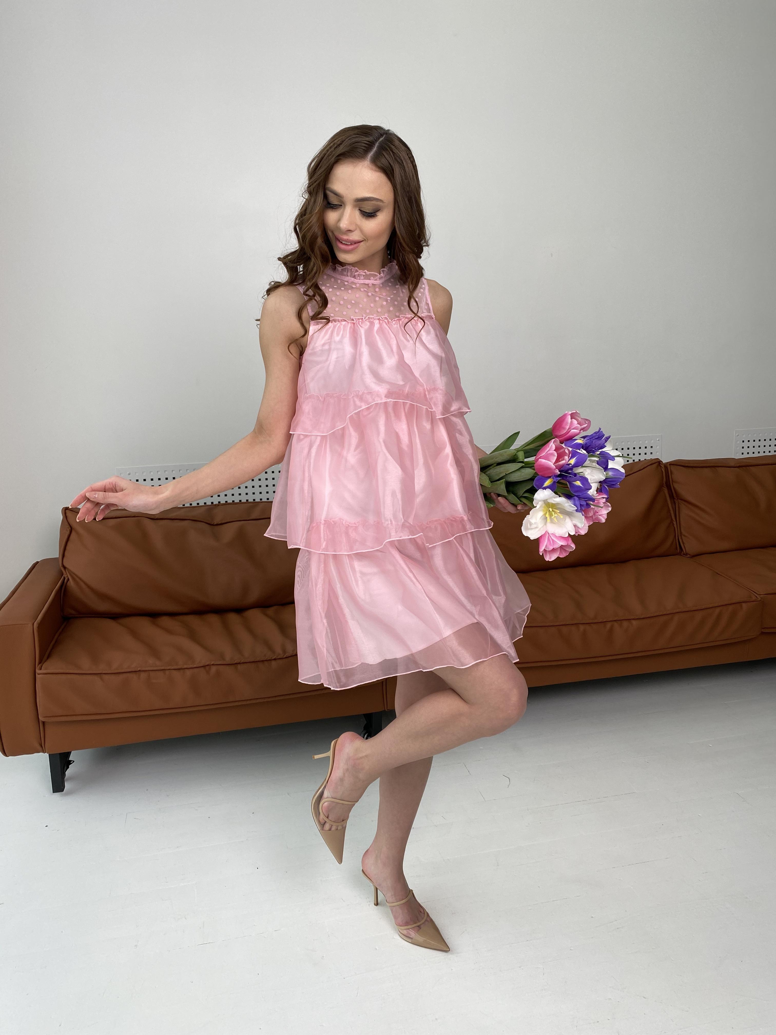 Перри платье из органзы 7067 АРТ. 42362 Цвет: Пудра - фото 4, интернет магазин tm-modus.ru