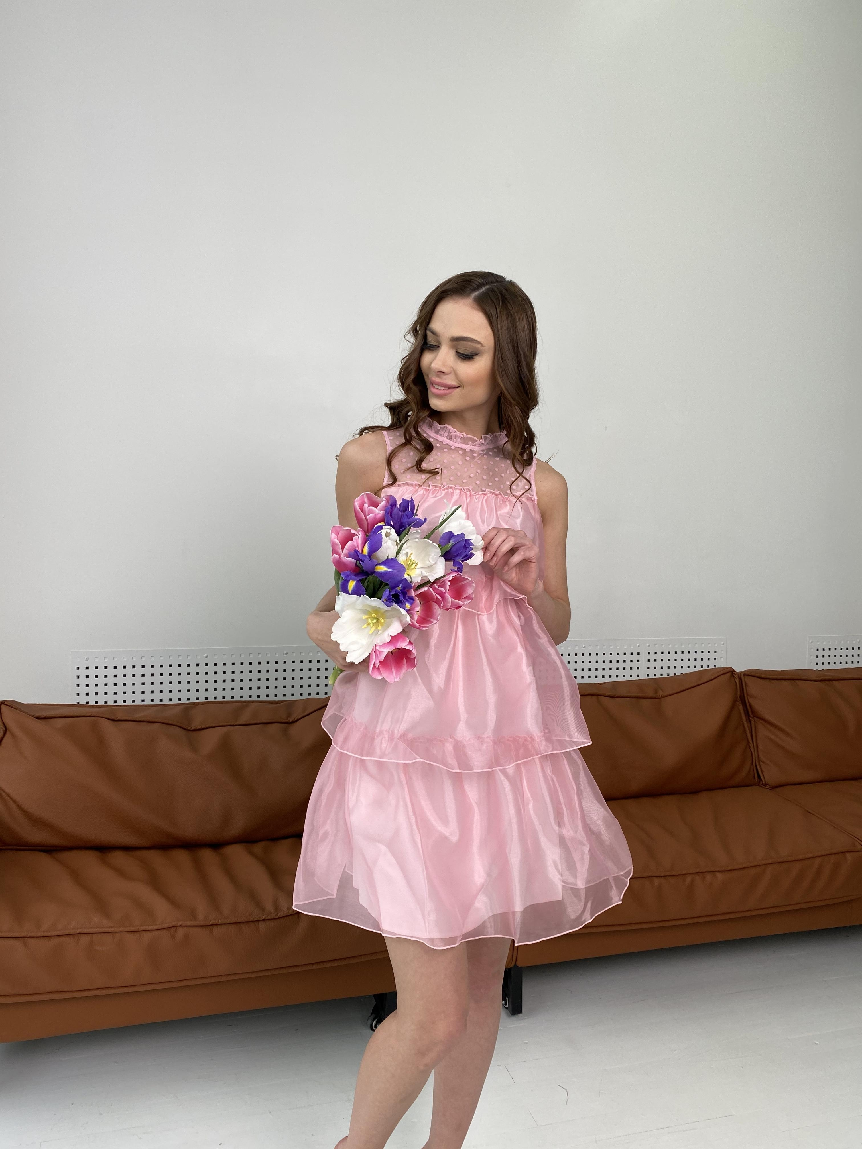 Перри платье из органзы 7067 АРТ. 42362 Цвет: Пудра - фото 5, интернет магазин tm-modus.ru