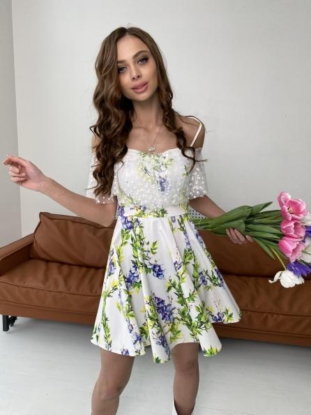 """Купить """"Тори"""" платье из коттона с принтом 7189 оптом и в розницу"""