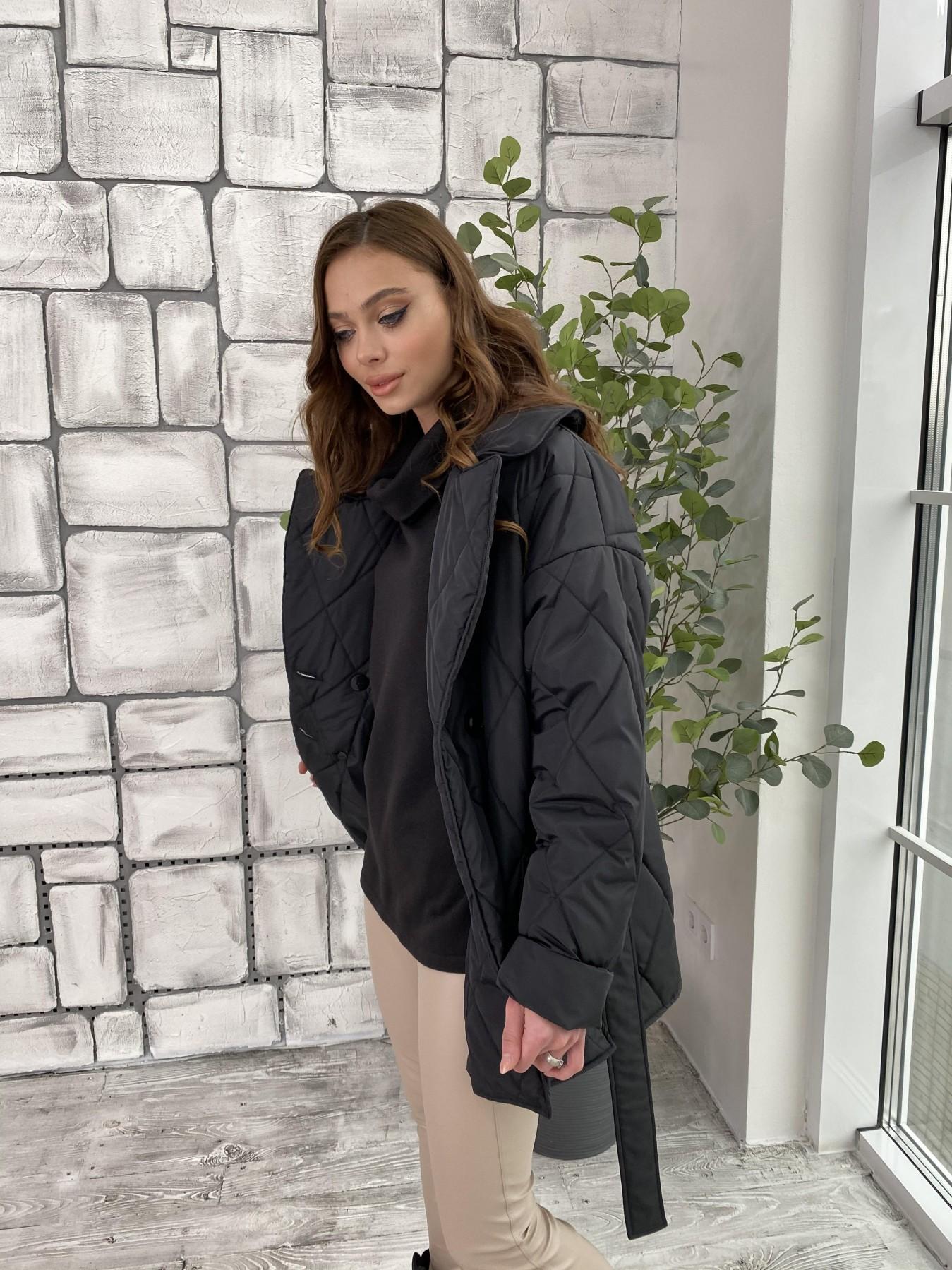 Норд куртка из плащевой ткани стеганая 10883 АРТ. 47354 Цвет: Черный - фото 1, интернет магазин tm-modus.ru