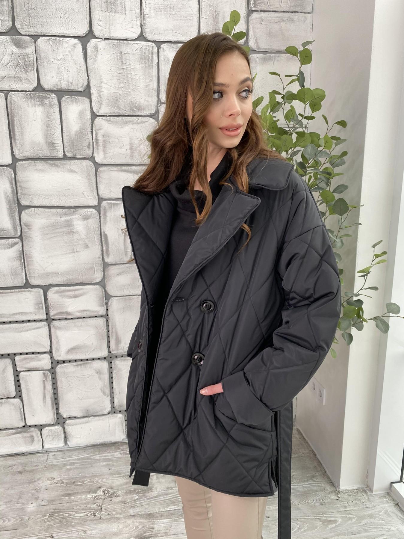 Норд куртка из плащевой ткани стеганая 10883 АРТ. 47354 Цвет: Черный - фото 2, интернет магазин tm-modus.ru