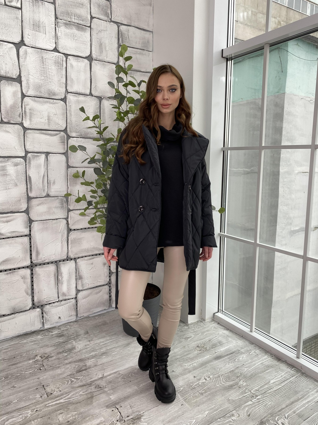 Норд куртка из плащевой ткани стеганая 10883 АРТ. 47354 Цвет: Черный - фото 3, интернет магазин tm-modus.ru
