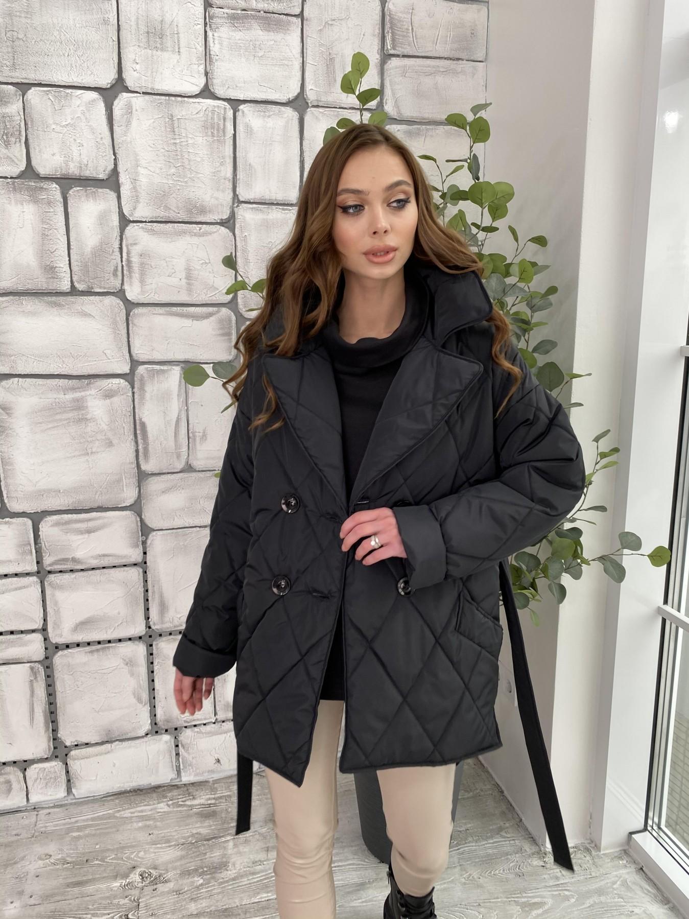 Норд куртка из плащевой ткани стеганая 10883 АРТ. 47354 Цвет: Черный - фото 4, интернет магазин tm-modus.ru