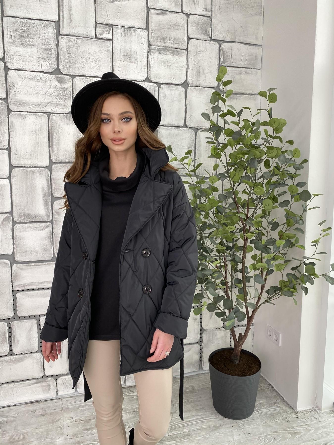 Норд куртка из плащевой ткани стеганая 10883 АРТ. 47354 Цвет: Черный - фото 6, интернет магазин tm-modus.ru