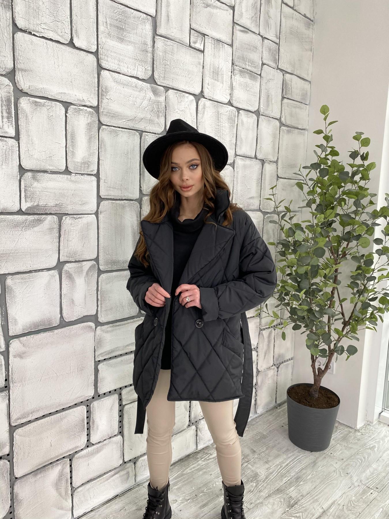 Норд куртка из плащевой ткани стеганая 10883 АРТ. 47354 Цвет: Черный - фото 8, интернет магазин tm-modus.ru