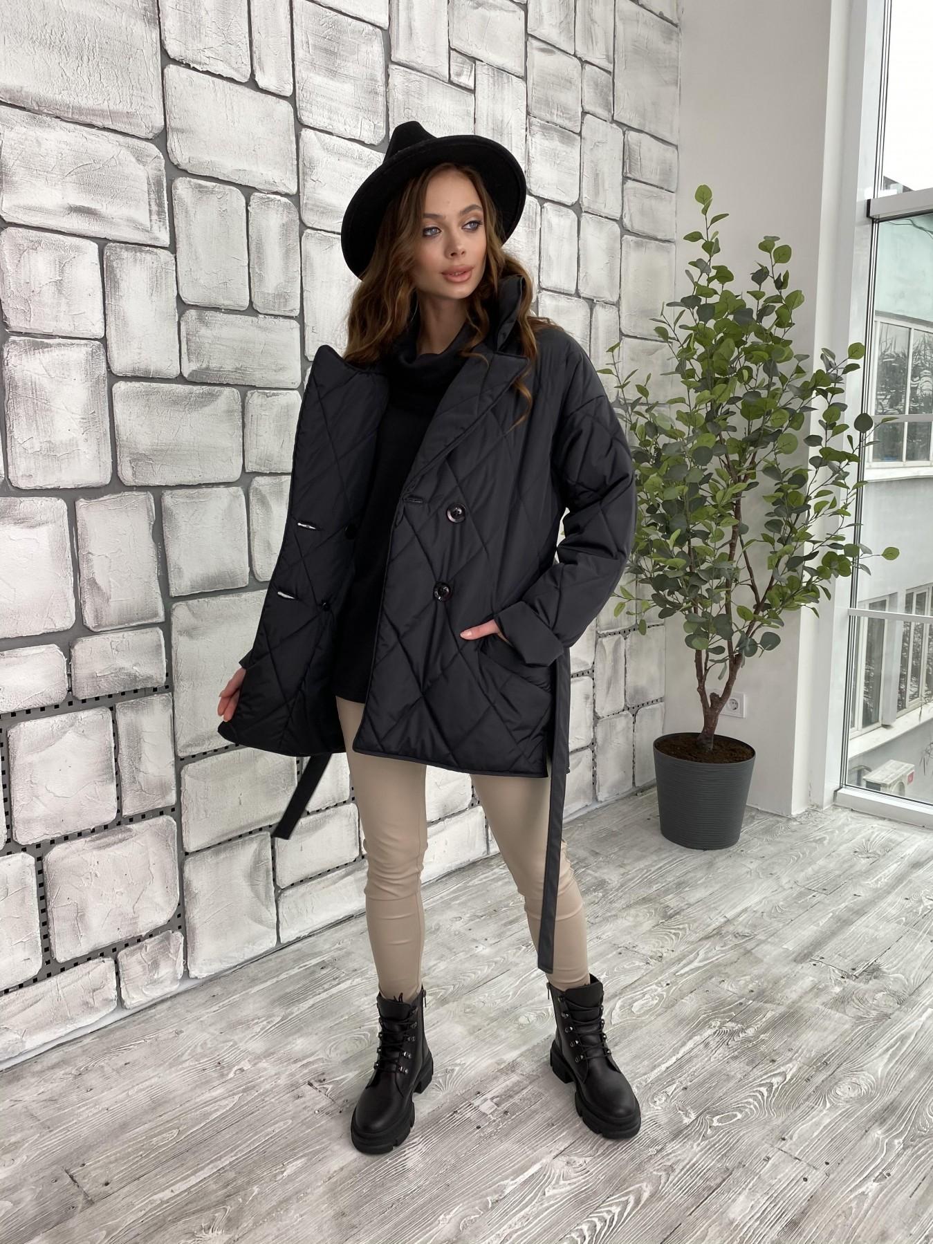 Норд куртка из плащевой ткани стеганая 10883 АРТ. 47354 Цвет: Черный - фото 9, интернет магазин tm-modus.ru