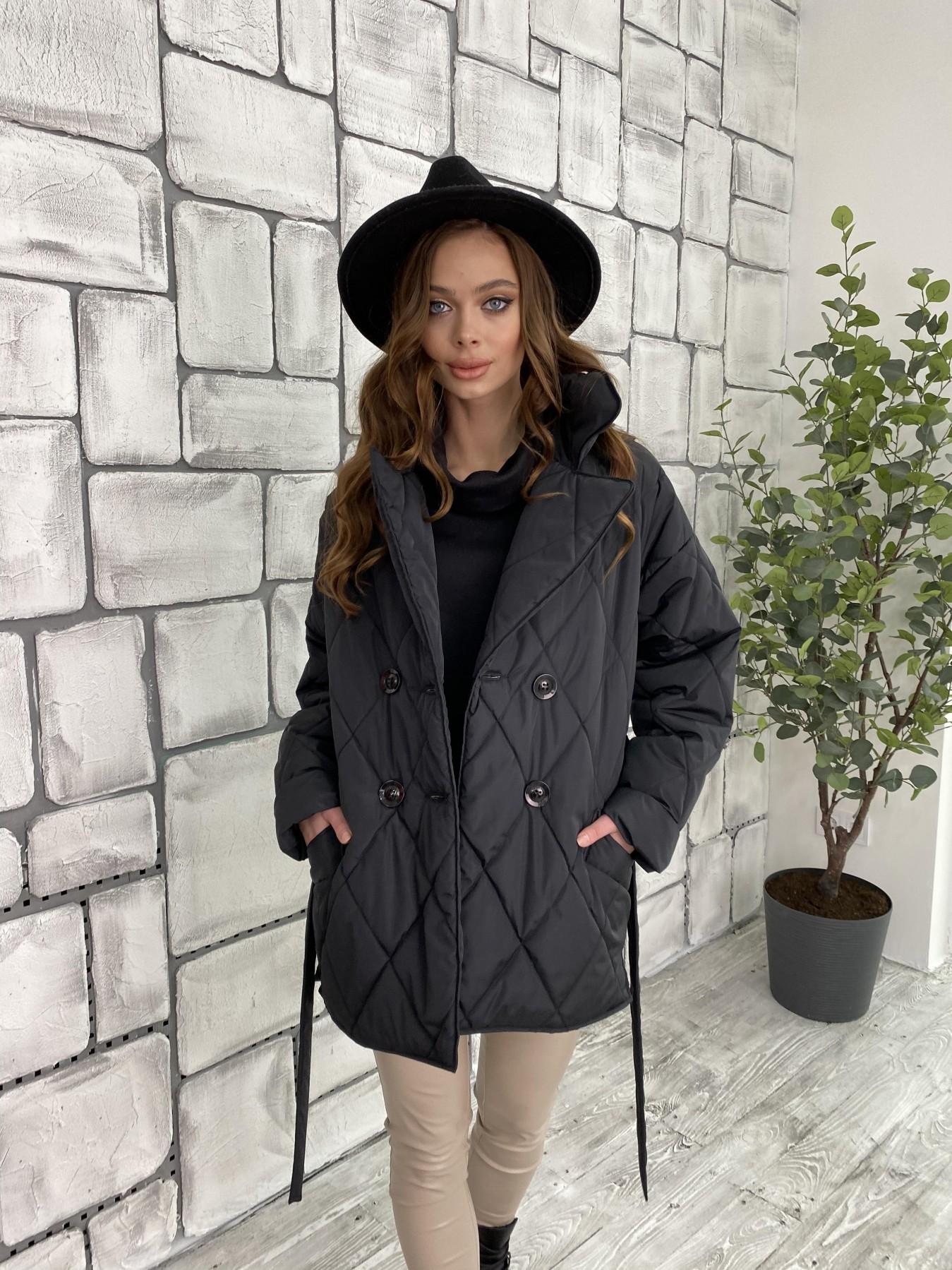 Норд куртка из плащевой ткани стеганая 10883 АРТ. 47354 Цвет: Черный - фото 10, интернет магазин tm-modus.ru