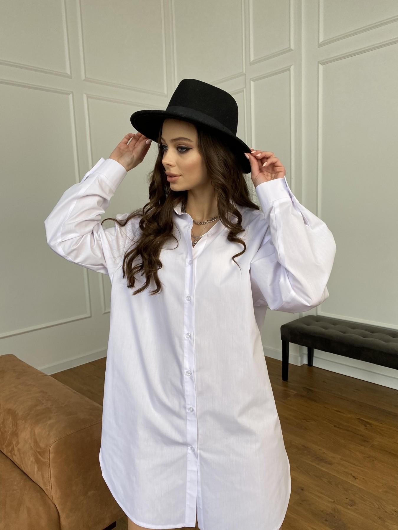 Премиум рубашка из хлопока  10976 АРТ. 47470 Цвет: Белый - фото 7, интернет магазин tm-modus.ru