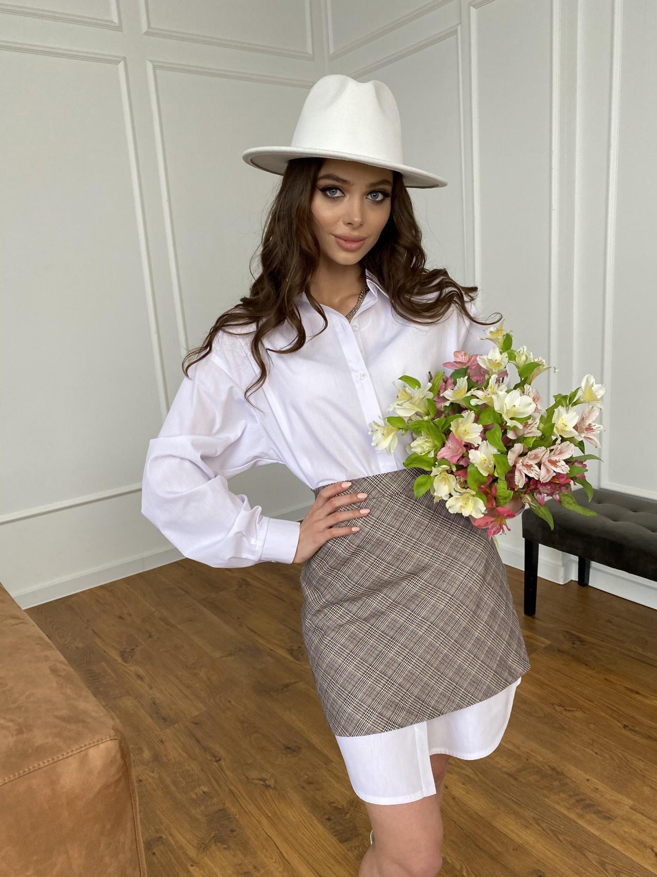 Премиум рубашка из хлопока  10976 АРТ. 47470 Цвет: Белый - фото 15, интернет магазин tm-modus.ru