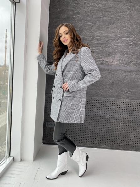 """Купить """"Лофт""""пальто-жакет из плотного трикотажа 10829 оптом и в розницу"""