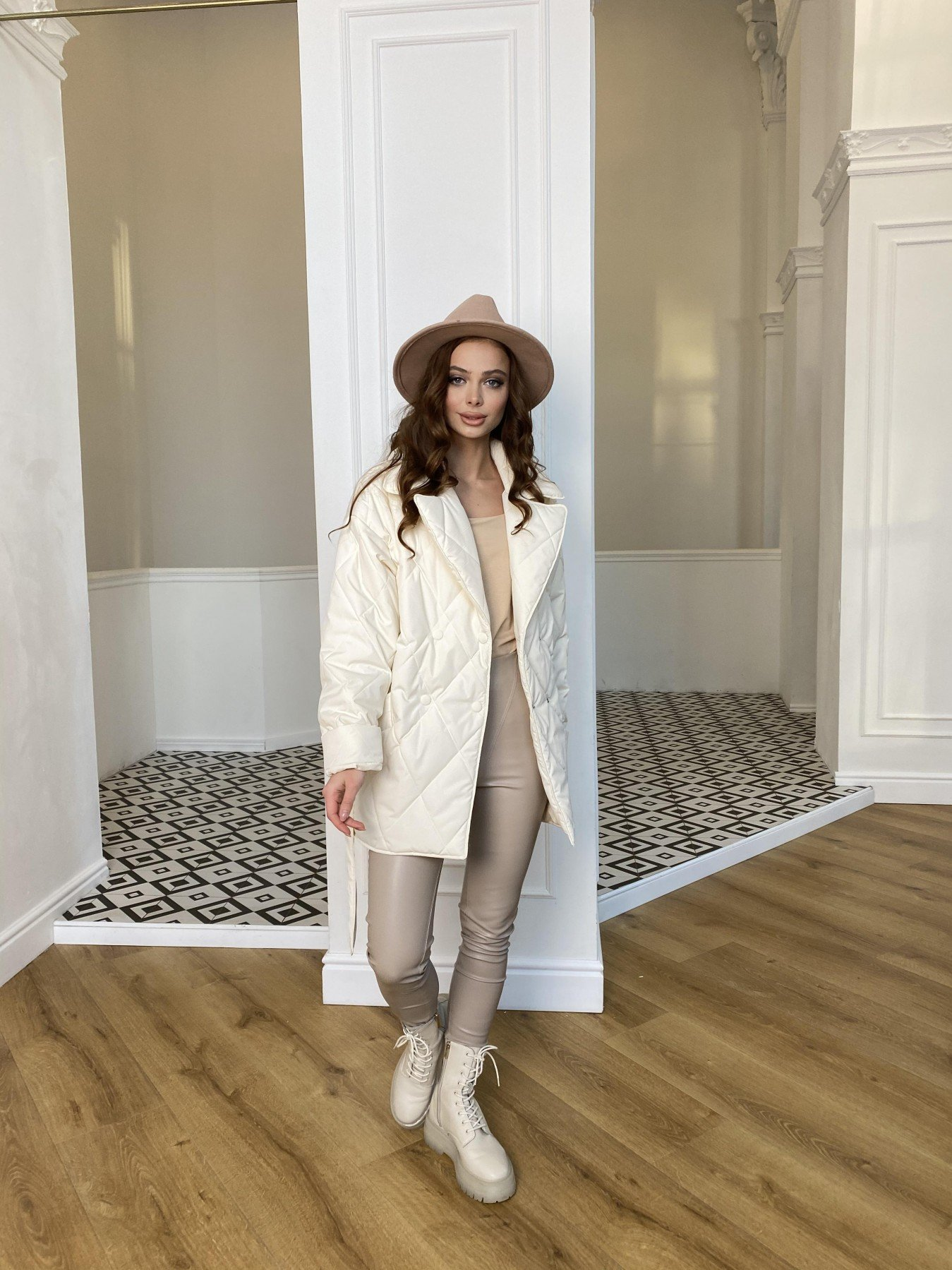 Норд Бат стеганая куртка из плащевки Ammy  10947 АРТ. 47435 Цвет: Молоко - фото 2, интернет магазин tm-modus.ru