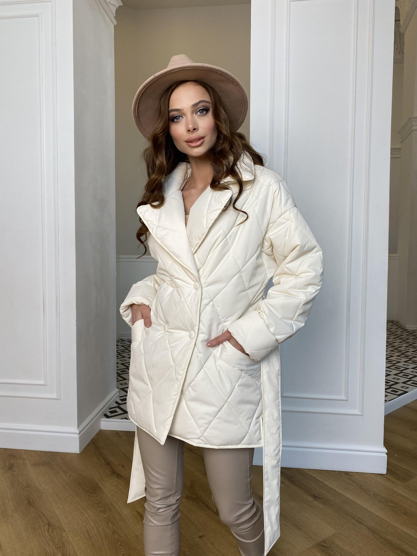 Норд Бат стеганая куртка из плащевки Ammy  10947 АРТ. 47435 Цвет: Молоко - фото 6, интернет магазин tm-modus.ru