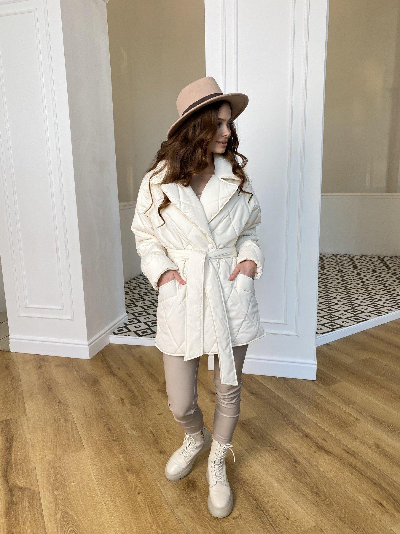 Норд Бат стеганая куртка из плащевки Ammy  10947 АРТ. 47435 Цвет: Молоко - фото 7, интернет магазин tm-modus.ru