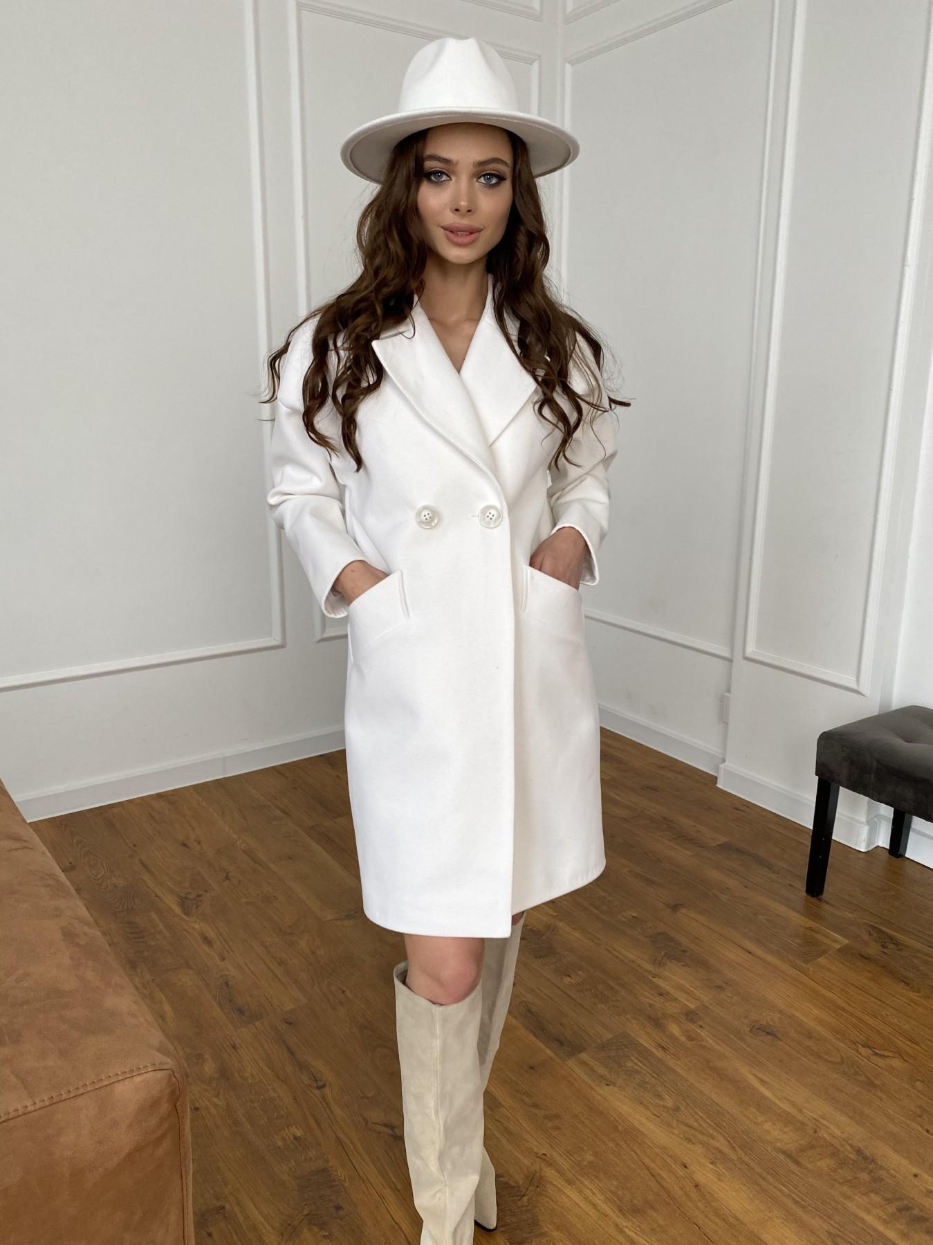 Сенсей пальто  из гладкого кашемира 10774 АРТ. 47501 Цвет: Молоко 1 - фото 1, интернет магазин tm-modus.ru