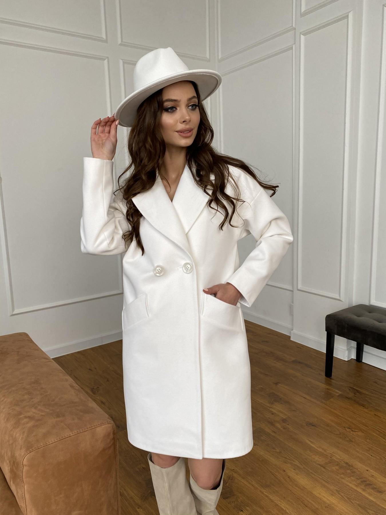 Сенсей пальто  из гладкого кашемира 10774 АРТ. 47501 Цвет: Молоко 1 - фото 3, интернет магазин tm-modus.ru