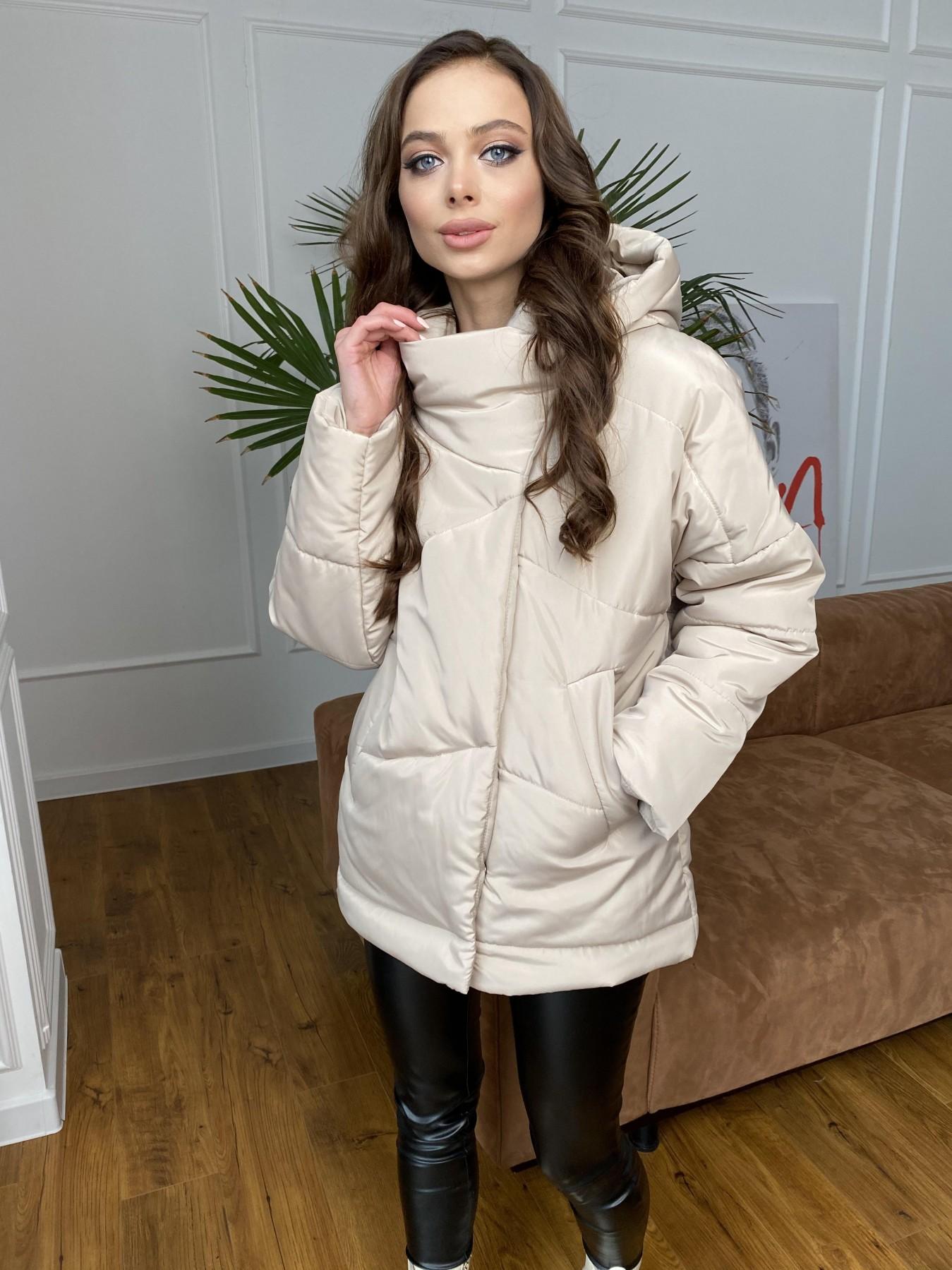 Уно куртка плащевка Ammy 10671 АРТ. 47476 Цвет: Бежевый - фото 2, интернет магазин tm-modus.ru