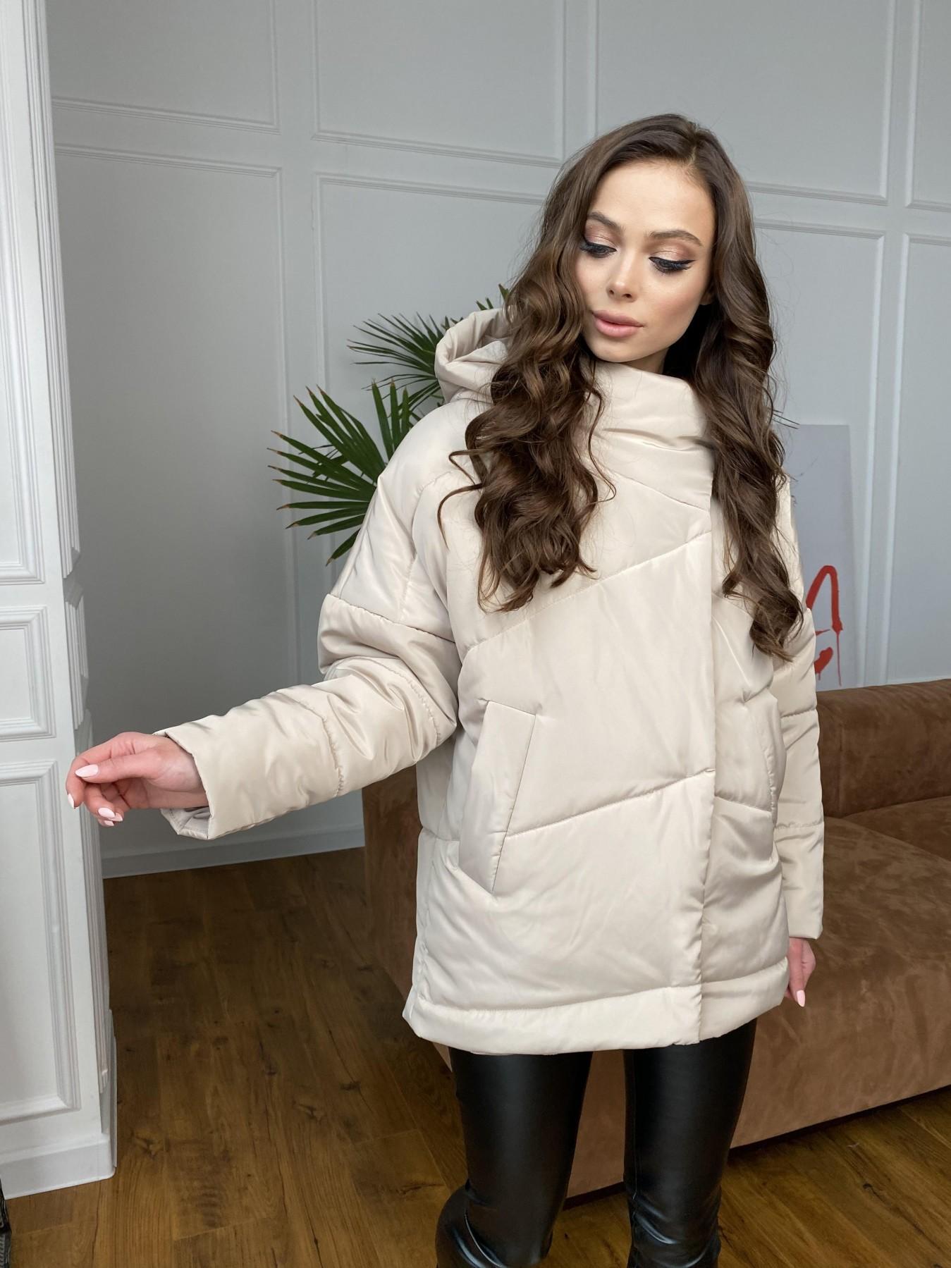 Уно куртка плащевка Ammy 10671 АРТ. 47476 Цвет: Бежевый - фото 3, интернет магазин tm-modus.ru