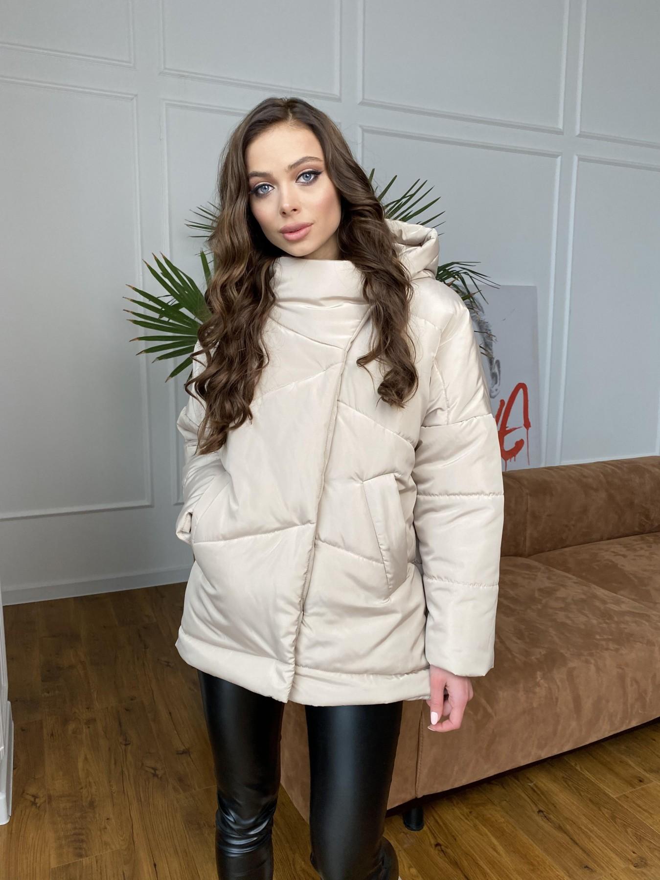 Уно куртка плащевка Ammy 10671 АРТ. 47476 Цвет: Бежевый - фото 4, интернет магазин tm-modus.ru