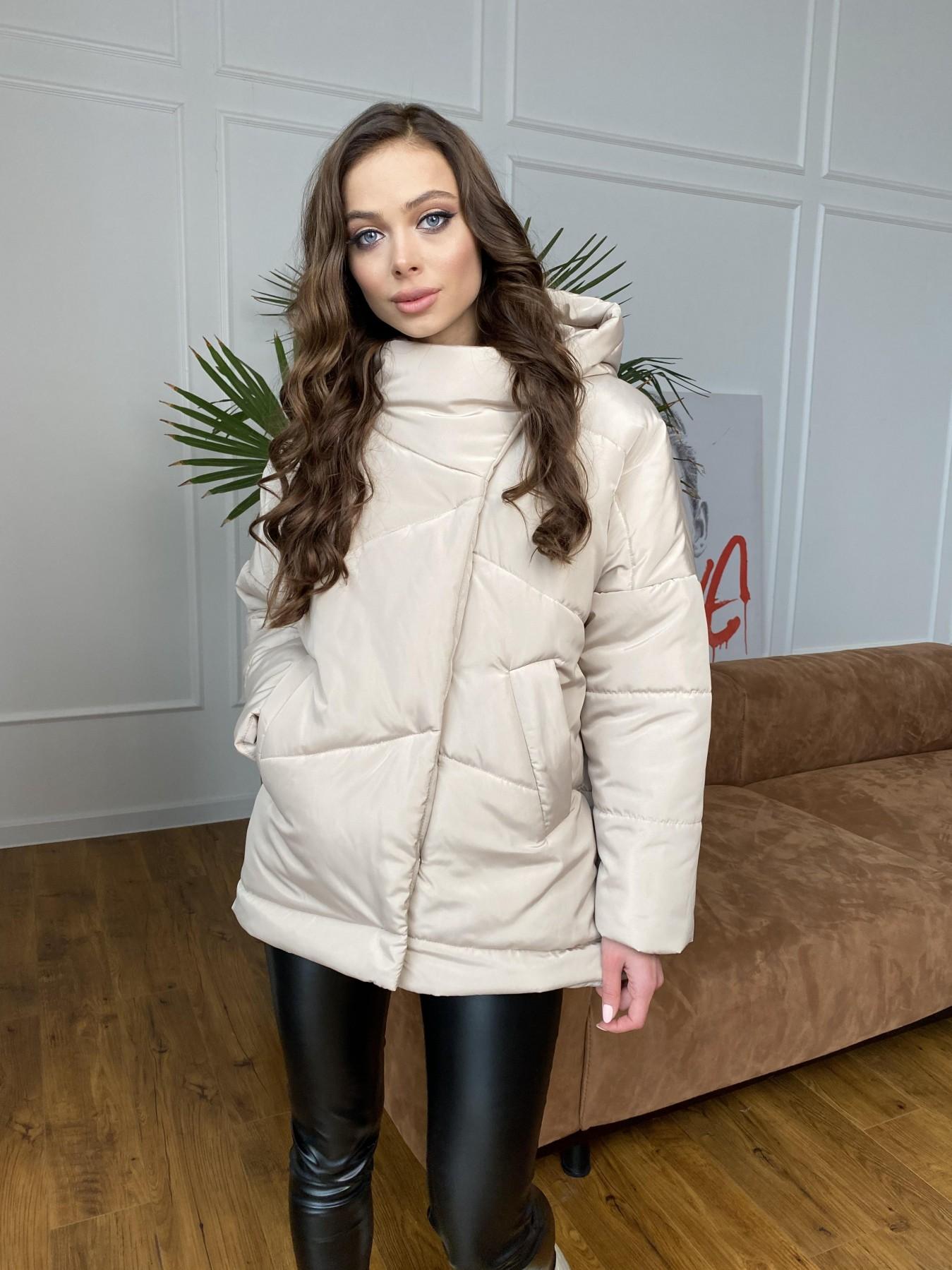 Уно куртка плащевка Ammy 10671 АРТ. 47476 Цвет: Бежевый - фото 5, интернет магазин tm-modus.ru