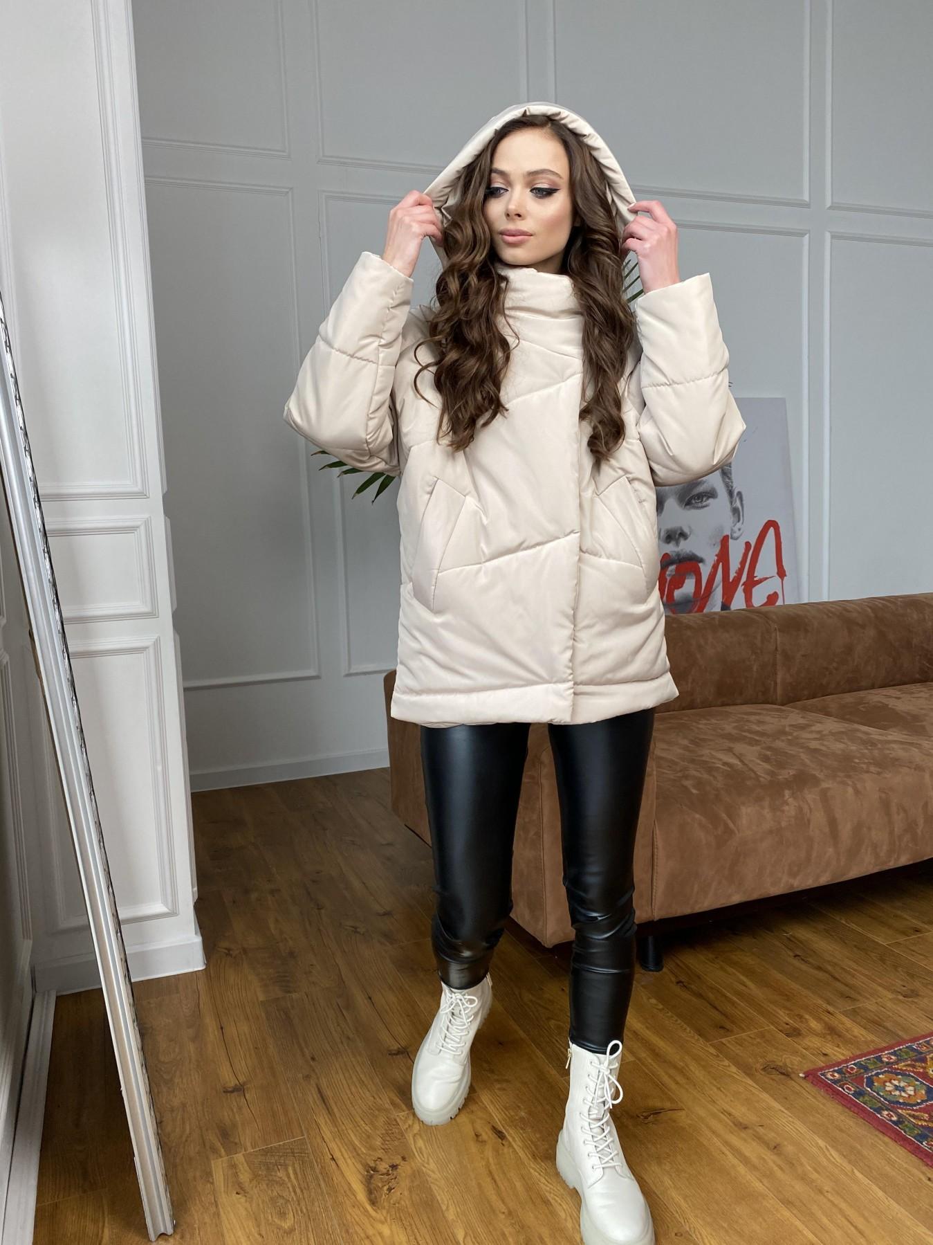Уно куртка плащевка Ammy 10671 АРТ. 47476 Цвет: Бежевый - фото 8, интернет магазин tm-modus.ru