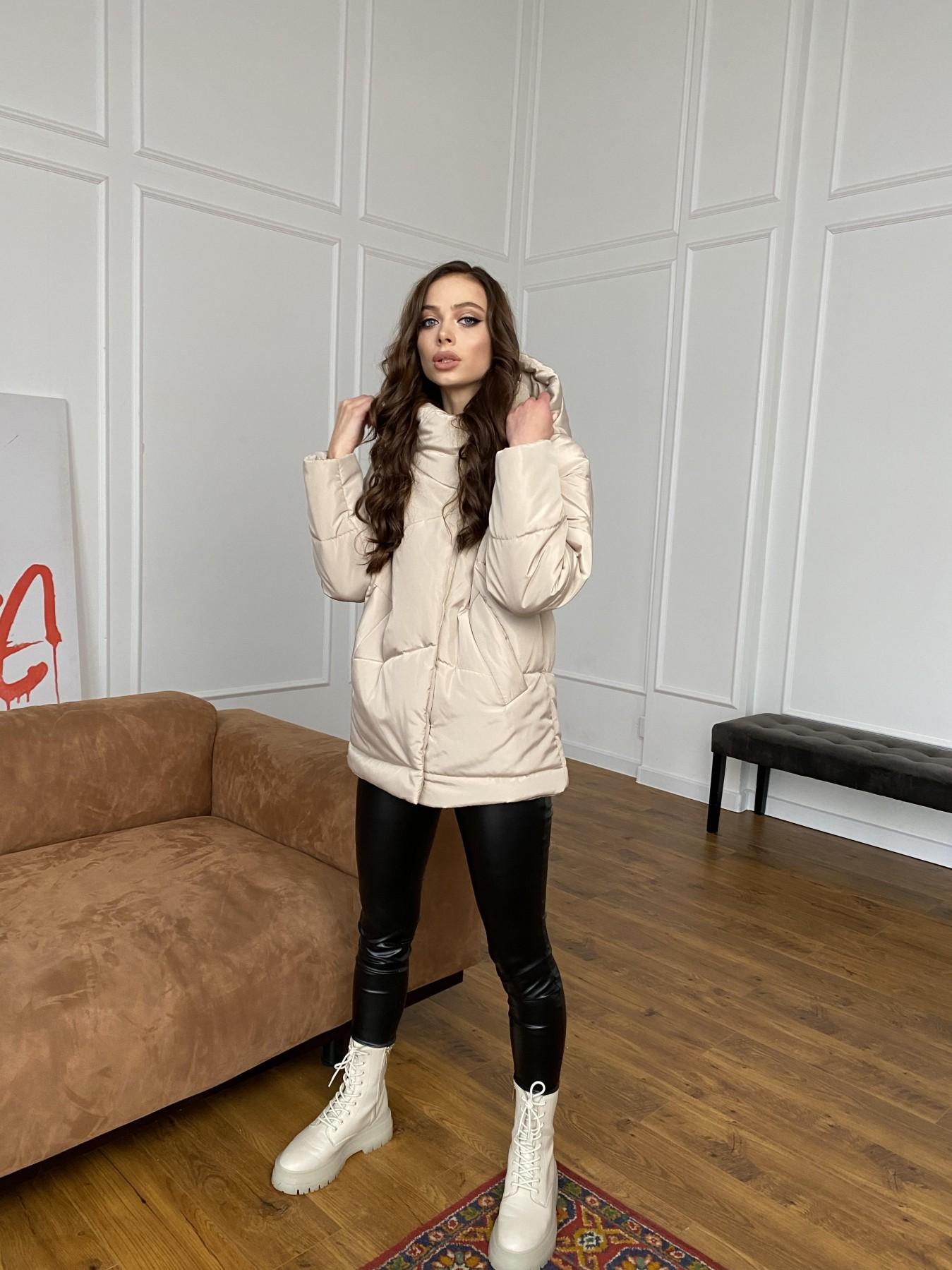 Уно куртка плащевка Ammy 10671 АРТ. 47476 Цвет: Бежевый - фото 10, интернет магазин tm-modus.ru