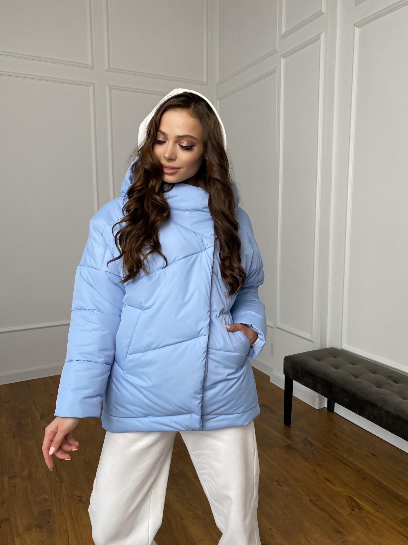 Уно куртка плащевка Ammy 10671 АРТ. 47398 Цвет: Голубой - фото 2, интернет магазин tm-modus.ru