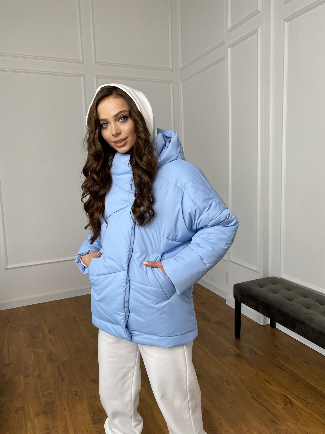 Уно куртка плащевка Ammy 10671 АРТ. 47398 Цвет: Голубой - фото 3, интернет магазин tm-modus.ru