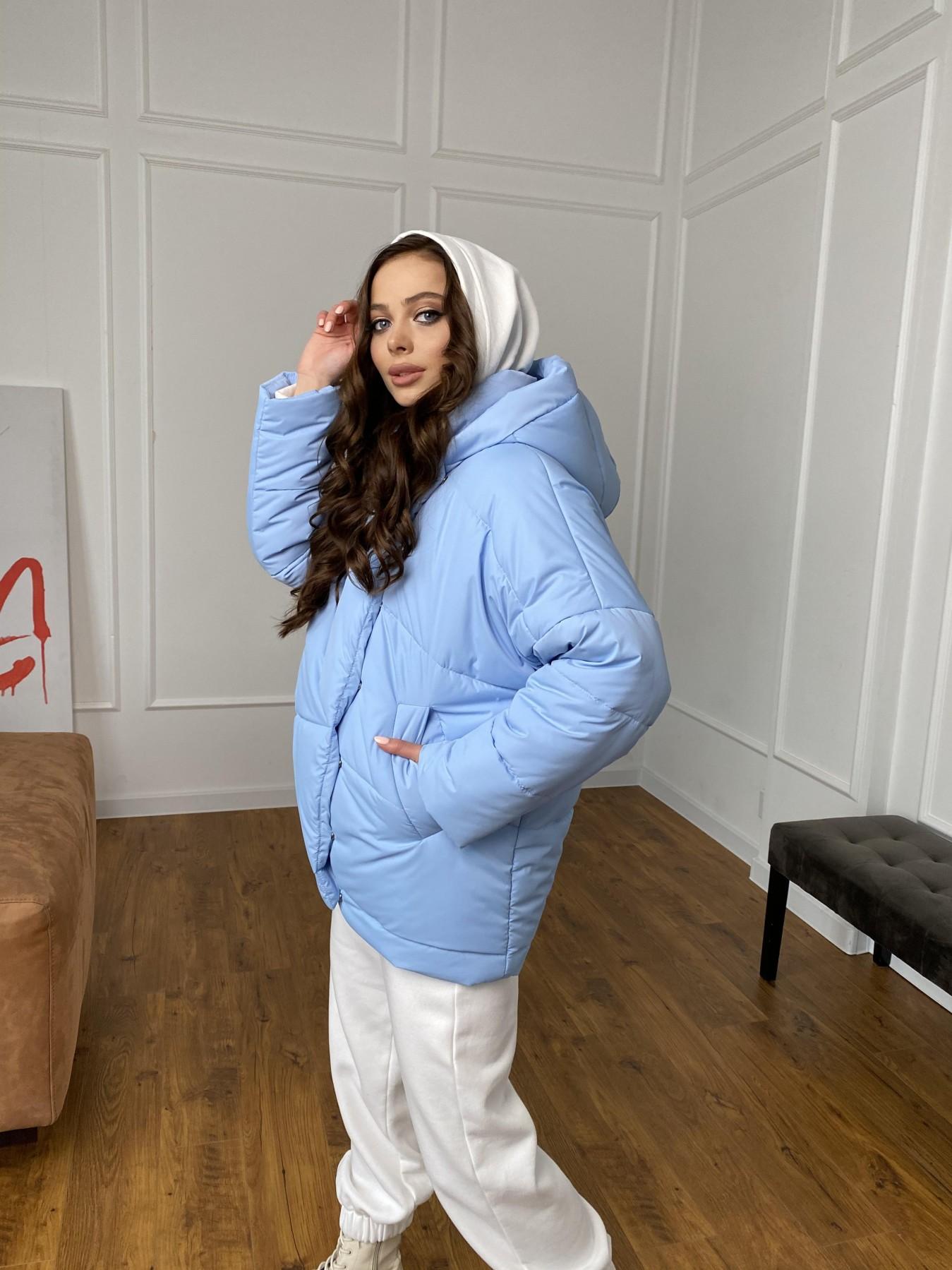 Уно куртка плащевка Ammy 10671 АРТ. 47398 Цвет: Голубой - фото 5, интернет магазин tm-modus.ru