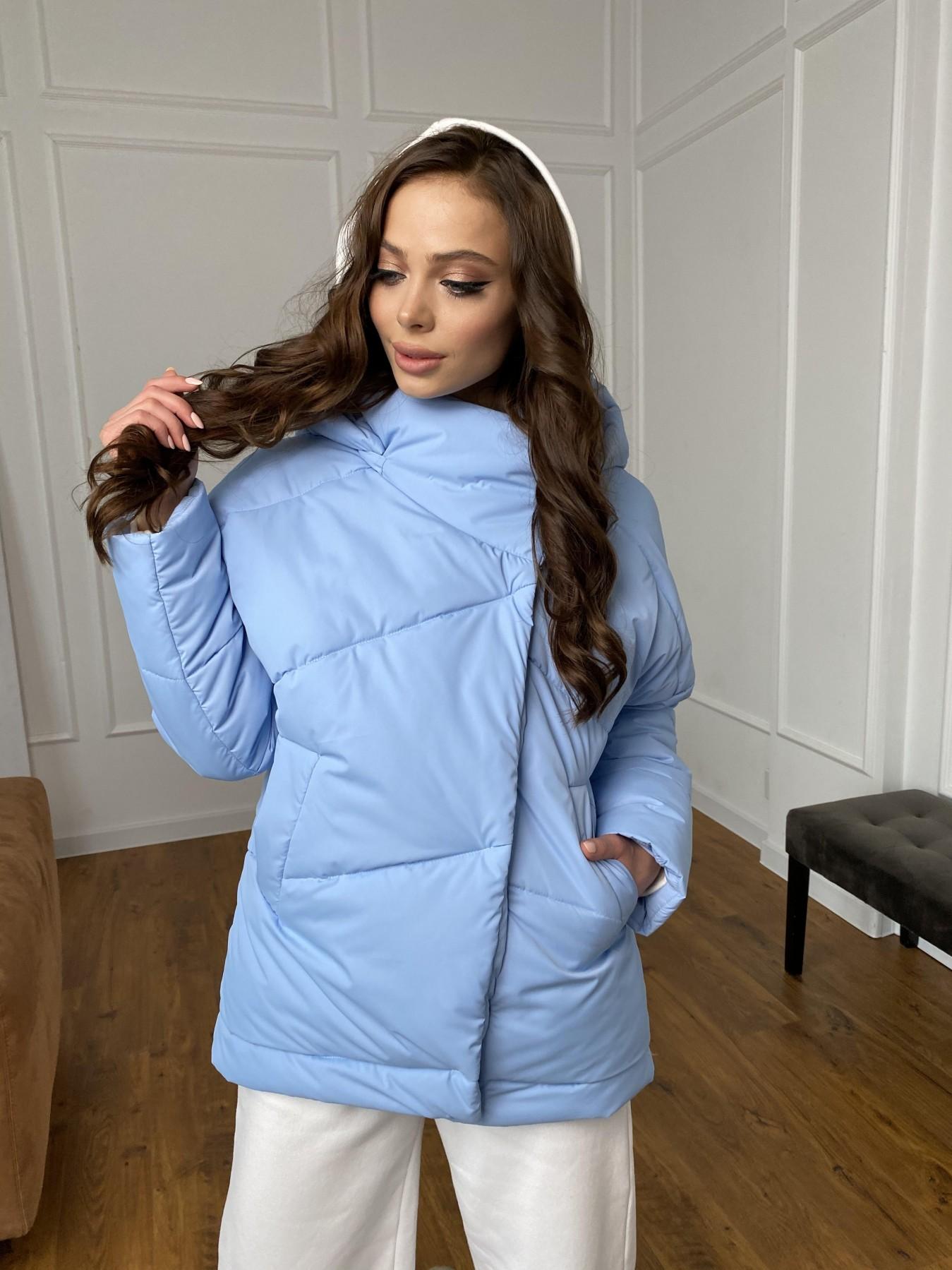 Уно куртка плащевка Ammy 10671 АРТ. 47398 Цвет: Голубой - фото 6, интернет магазин tm-modus.ru