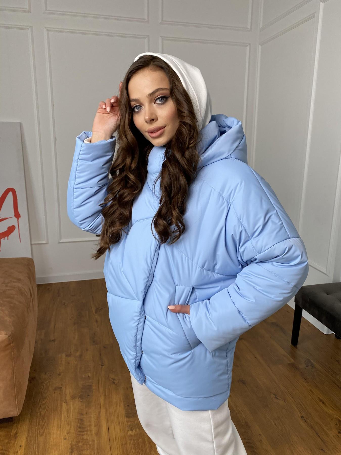 Уно куртка плащевка Ammy 10671 АРТ. 47398 Цвет: Голубой - фото 7, интернет магазин tm-modus.ru