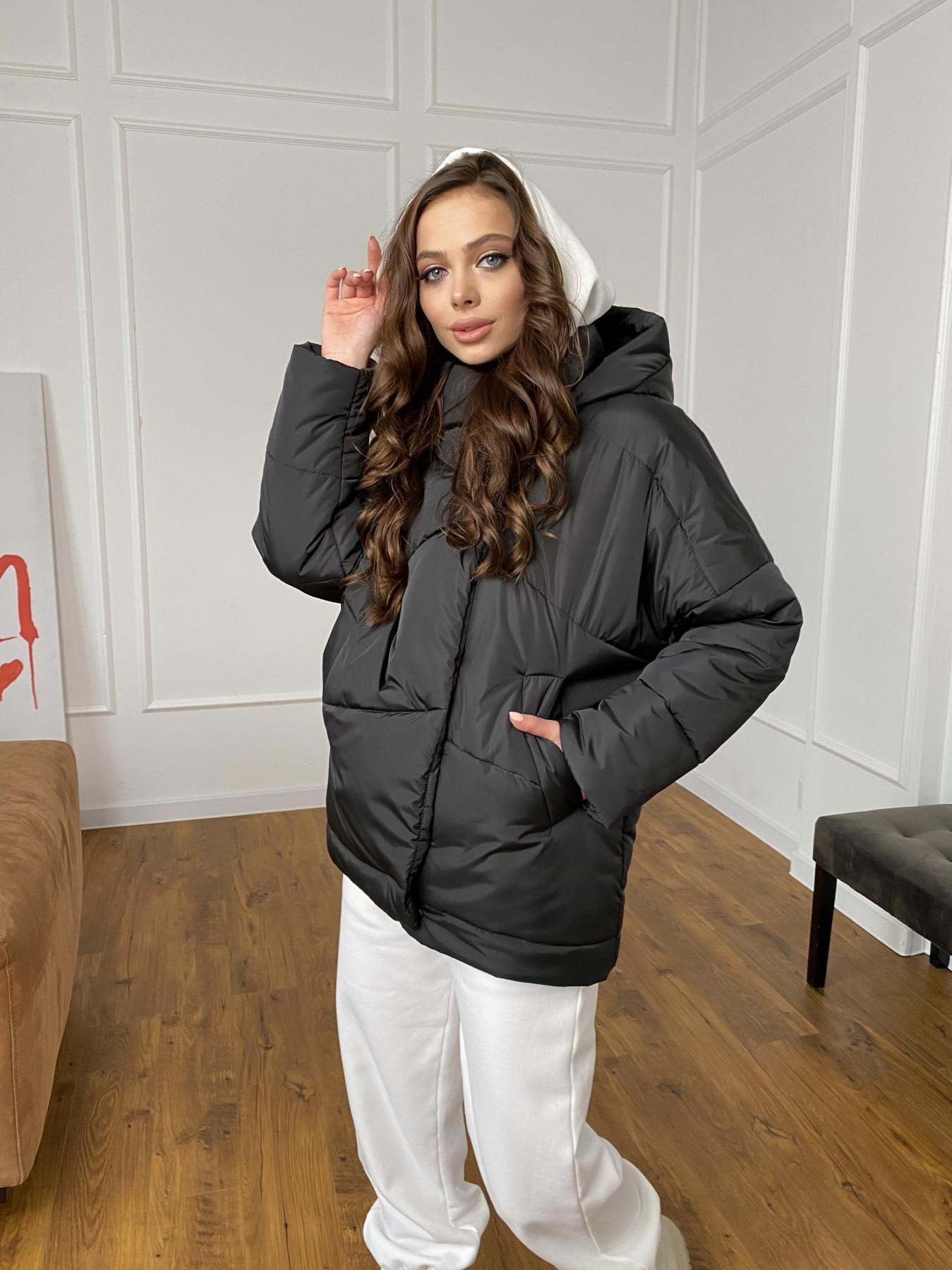 Уно куртка плащевка Ammy 10671 АРТ. 47399 Цвет: Черный - фото 2, интернет магазин tm-modus.ru