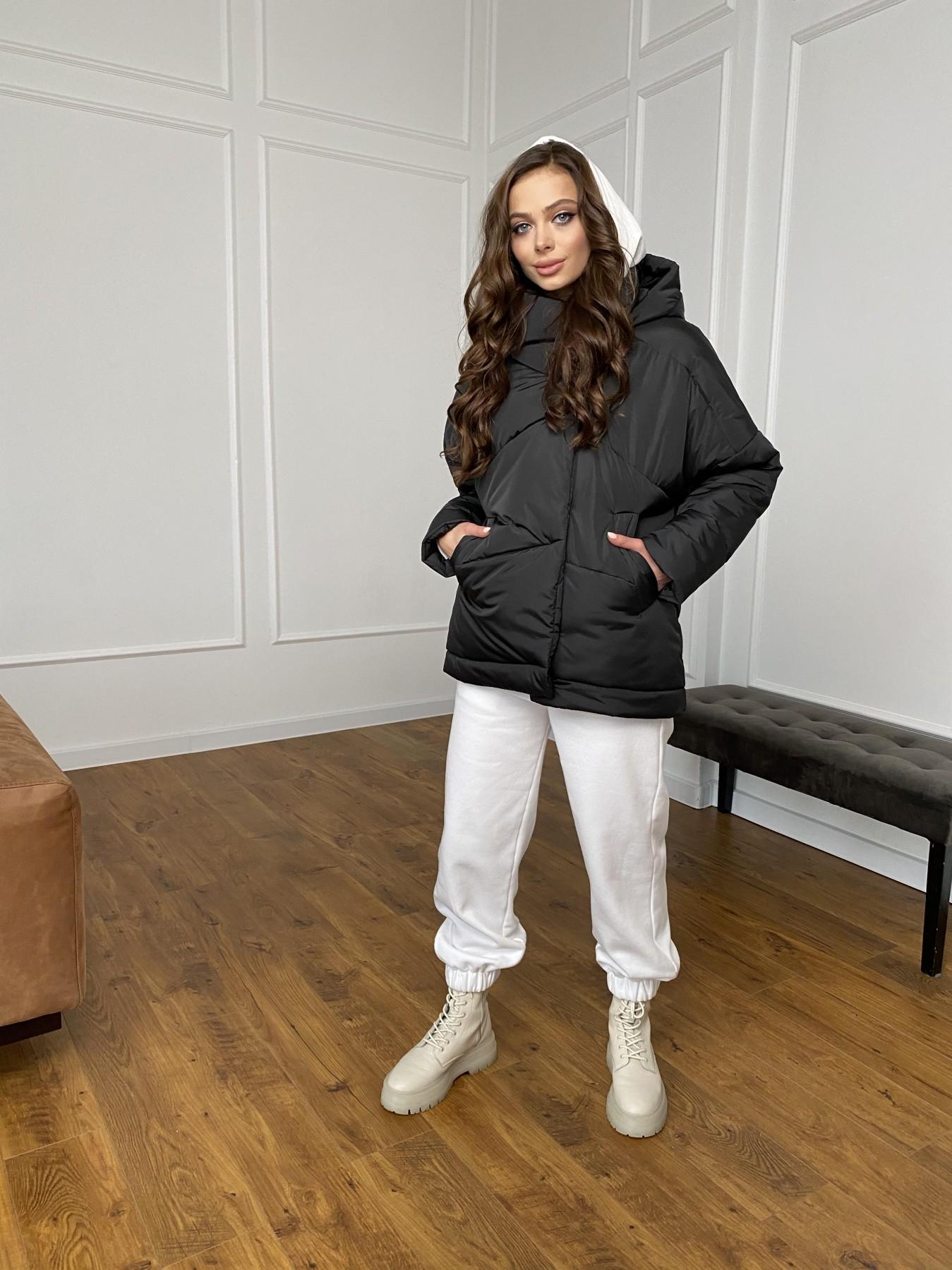 Уно куртка плащевка Ammy 10671 АРТ. 47399 Цвет: Черный - фото 4, интернет магазин tm-modus.ru