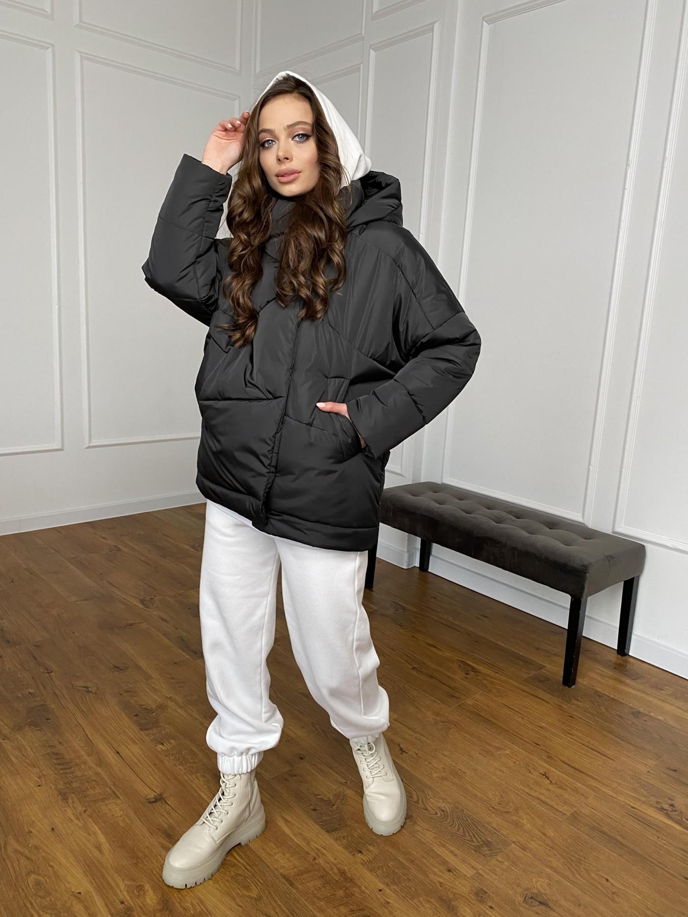 Уно куртка плащевка Ammy 10671 АРТ. 47399 Цвет: Черный - фото 5, интернет магазин tm-modus.ru