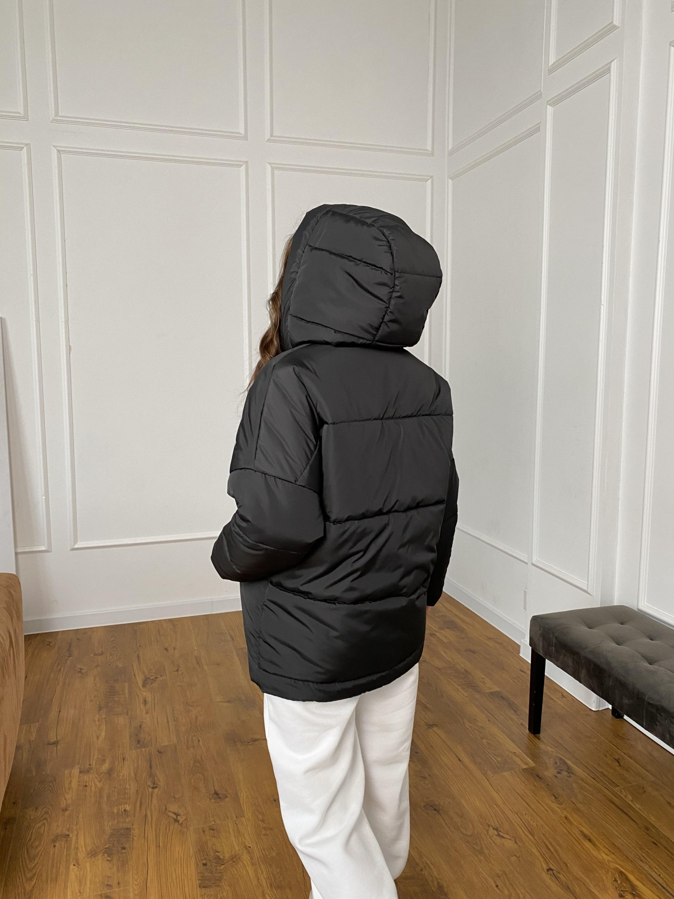 Уно куртка плащевка Ammy 10671 АРТ. 47399 Цвет: Черный - фото 7, интернет магазин tm-modus.ru