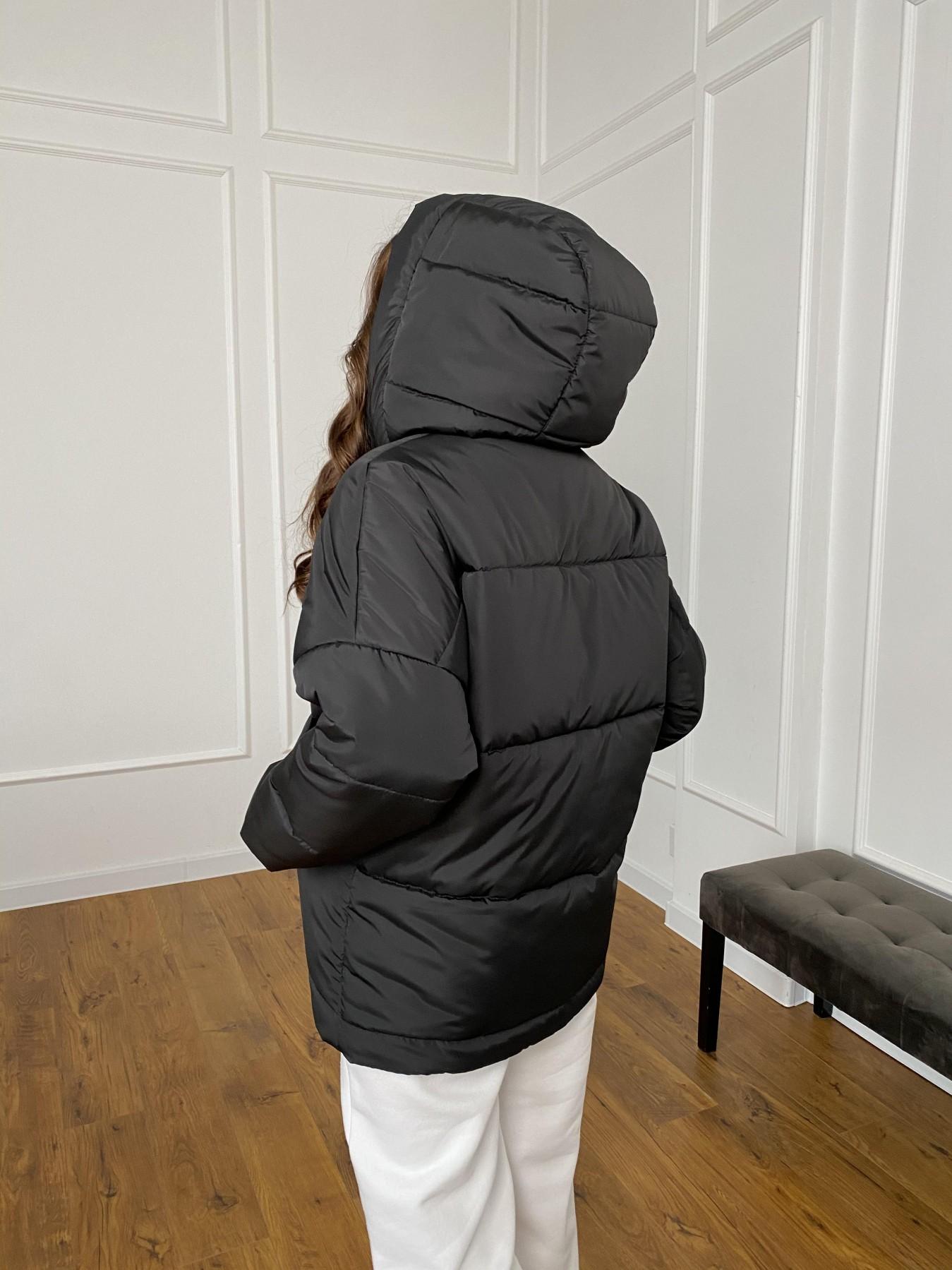 Уно куртка плащевка Ammy 10671 АРТ. 47399 Цвет: Черный - фото 8, интернет магазин tm-modus.ru