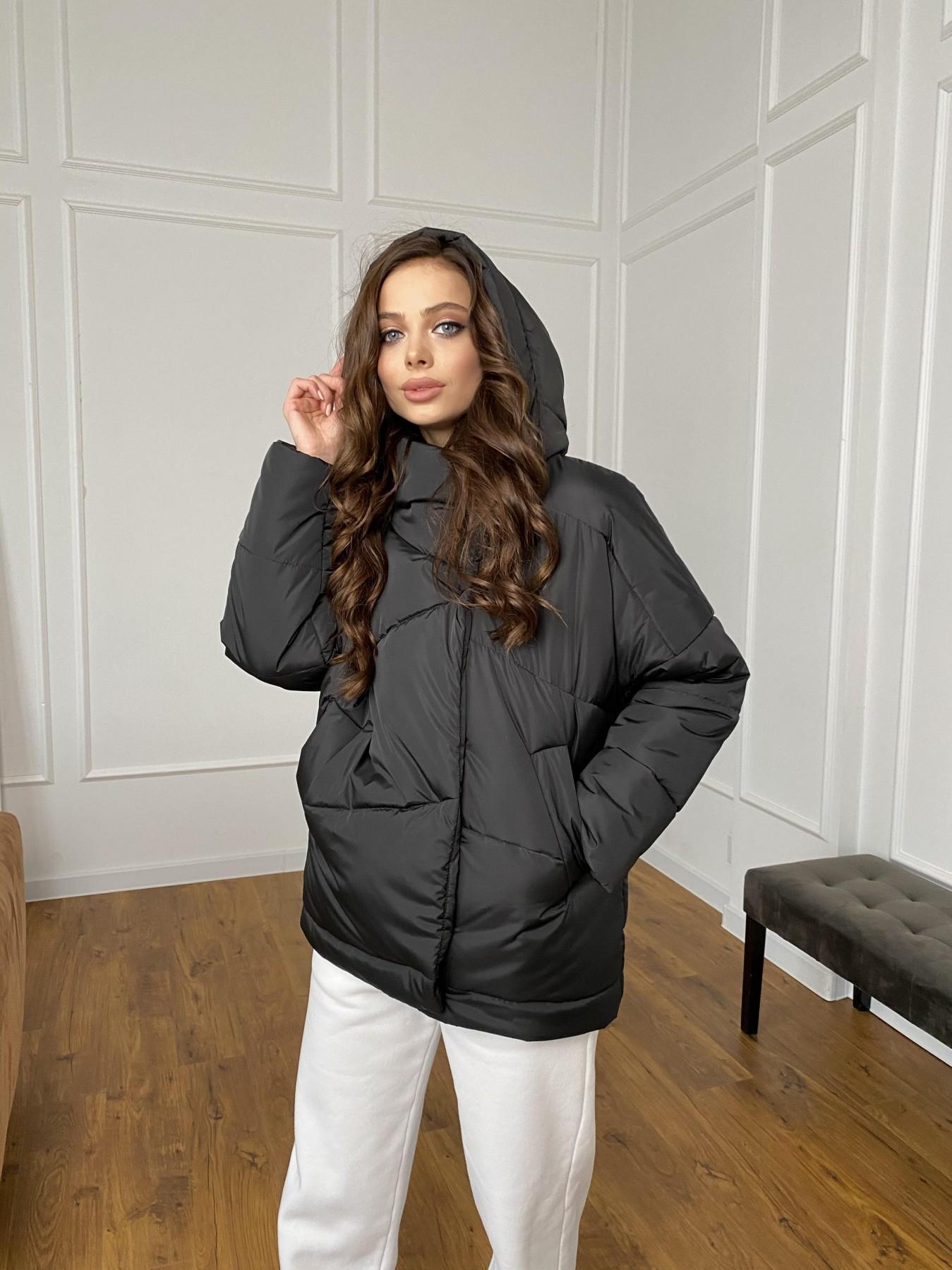 Уно куртка плащевка Ammy 10671 АРТ. 47399 Цвет: Черный - фото 10, интернет магазин tm-modus.ru